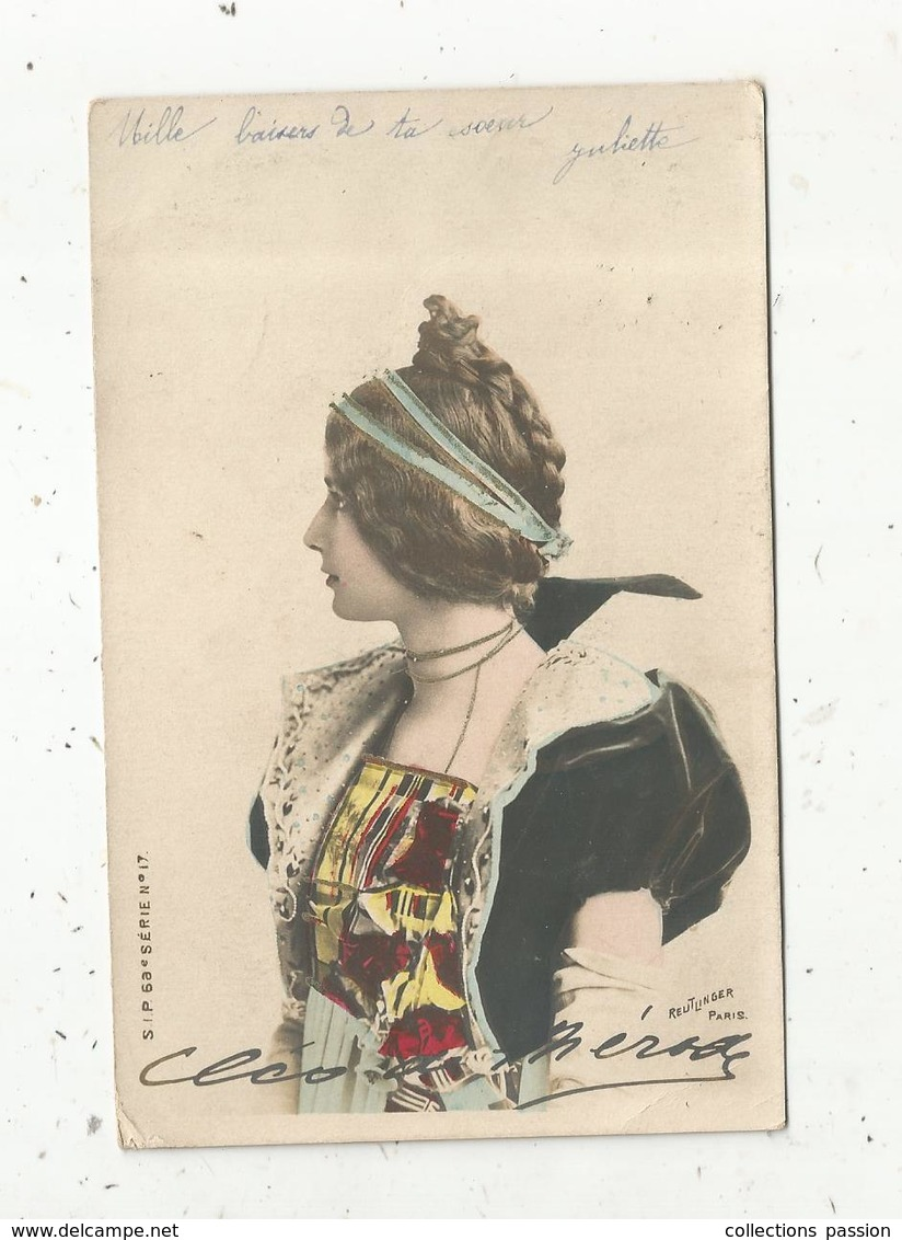 Cp, Femme,  Reutlinger ,  Ed. S.I.P. ,  Serie N° 17 ,  Dos Simple,  Voyagée 1903 - Frauen