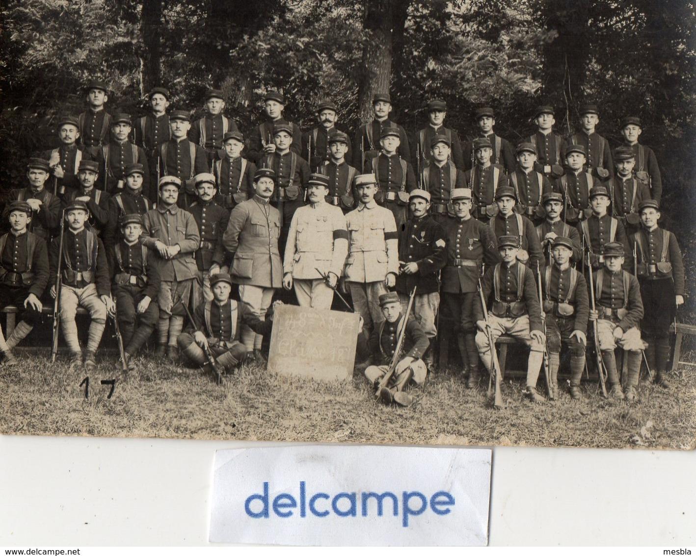 Carte - Photo Authentique -  48éme Régiment D' Infanterie - GUINGAMP -  Classe 1918 - Guerre, Militaire