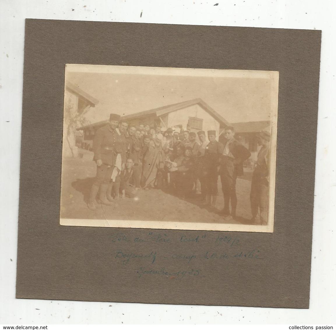 Photographie  ,  150 X 165 ,militaria,militaires , Fête Du PERE CENT ,  Beyrouth , Liban-Syrie,  1925 - Guerre, Militaire