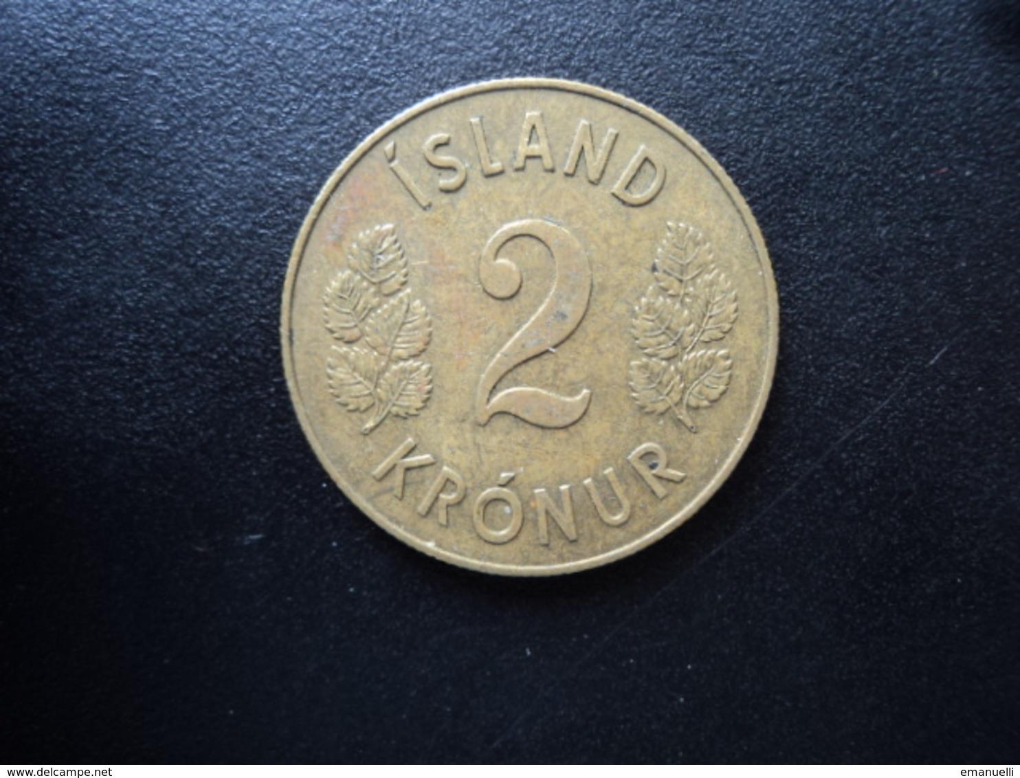 ISLANDE : 2 KRONUR   1958    KM 13a1     SUP - Islandia
