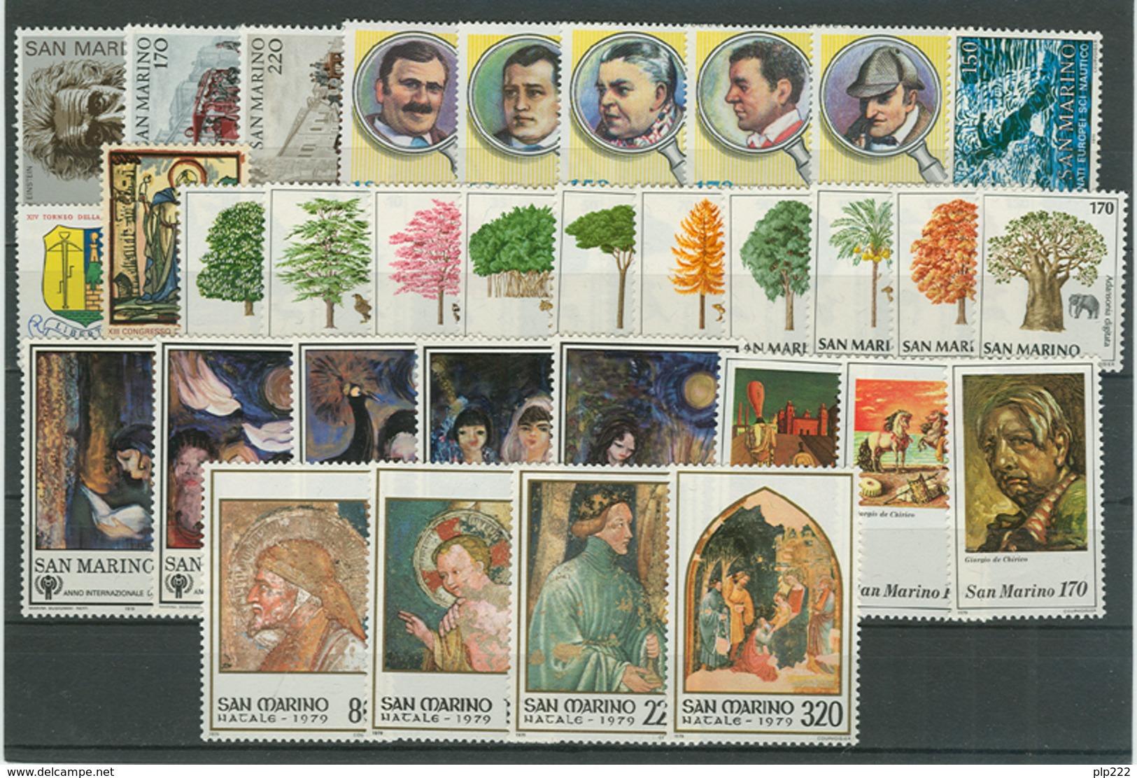 San Marino 1979 Annata Completa/Complete Year MNH/** - San Marino