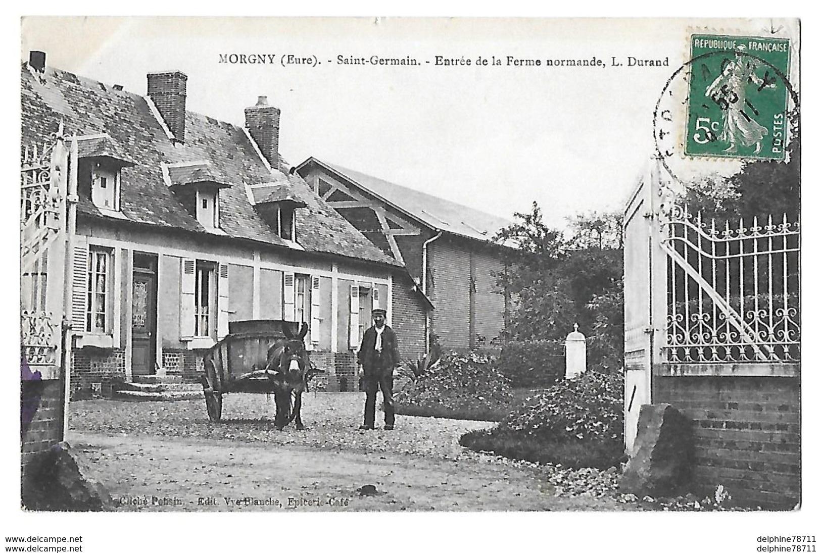 MORGNY      Ferme L DURAND  (RECTO VERSO) - France