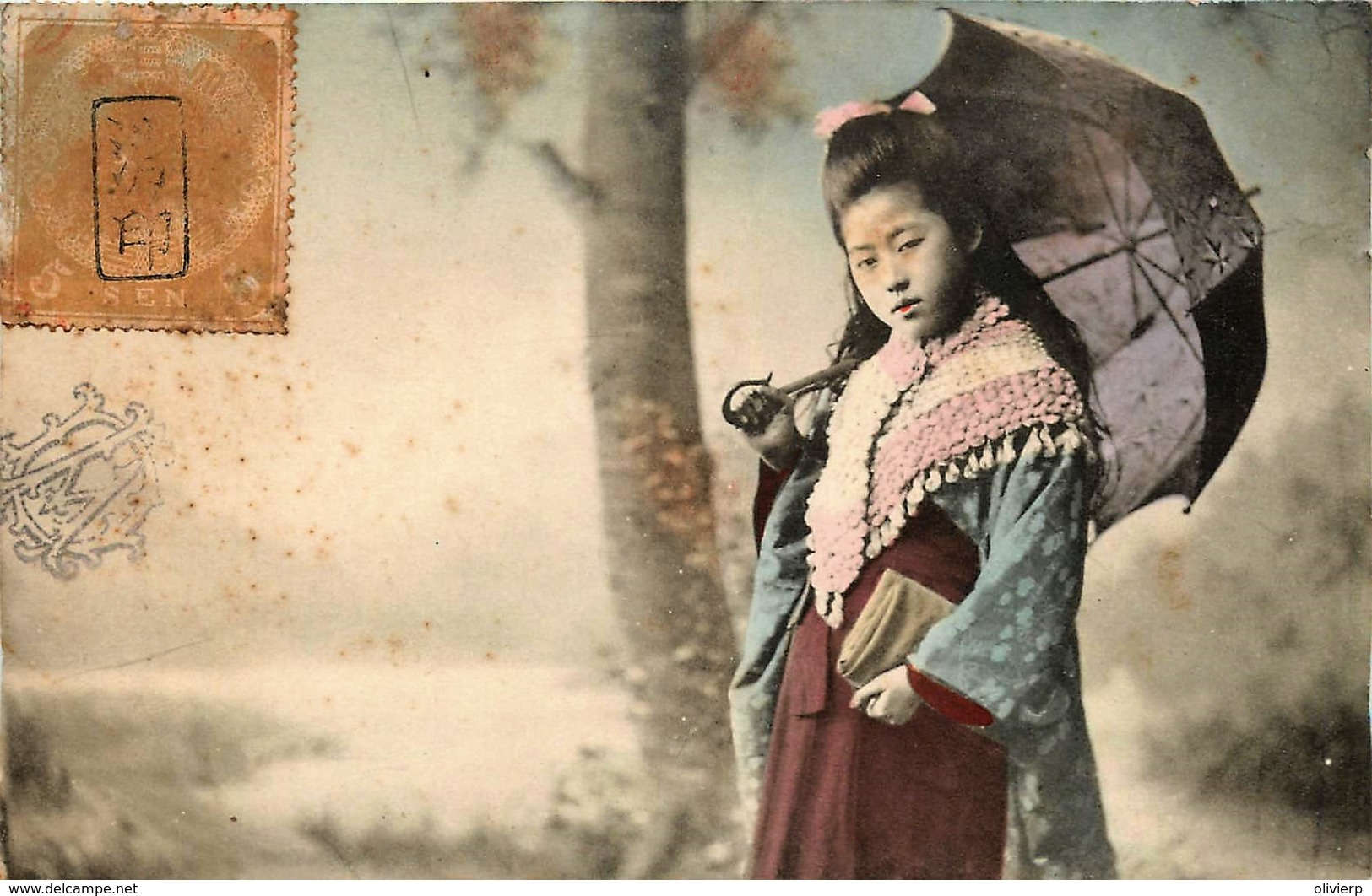 Japon - Geisha Au Parapluie - Geisha With Umbrella - Non Classés