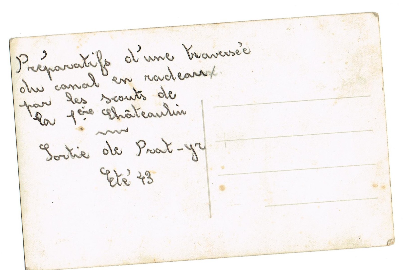 Scoutisme - 29 Chateaulin.Préparatifs D'une Traversé Du Canal En Radeaux  Par Les Scouts De La 1ère.Sortie Prat-yr.1943. - Scoutisme