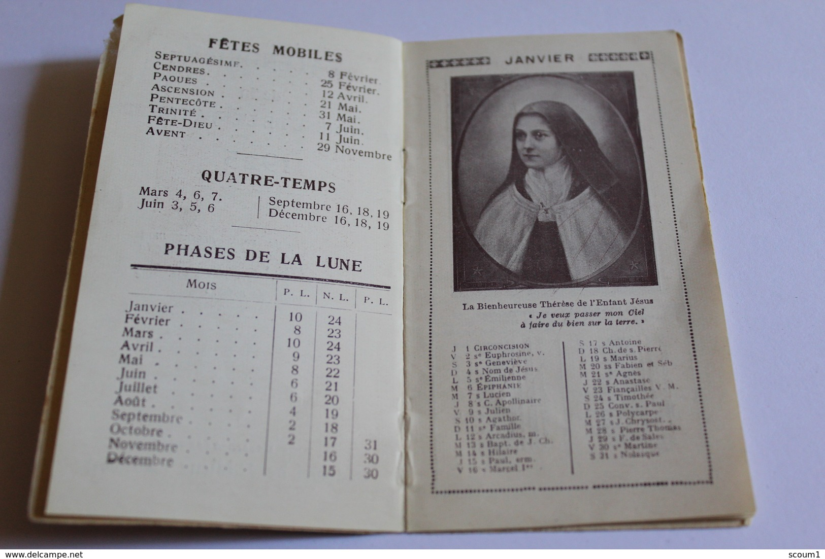 1925 Petit Calendier De La Bse THERESE DE L ENFANT JESUS - Kalenders