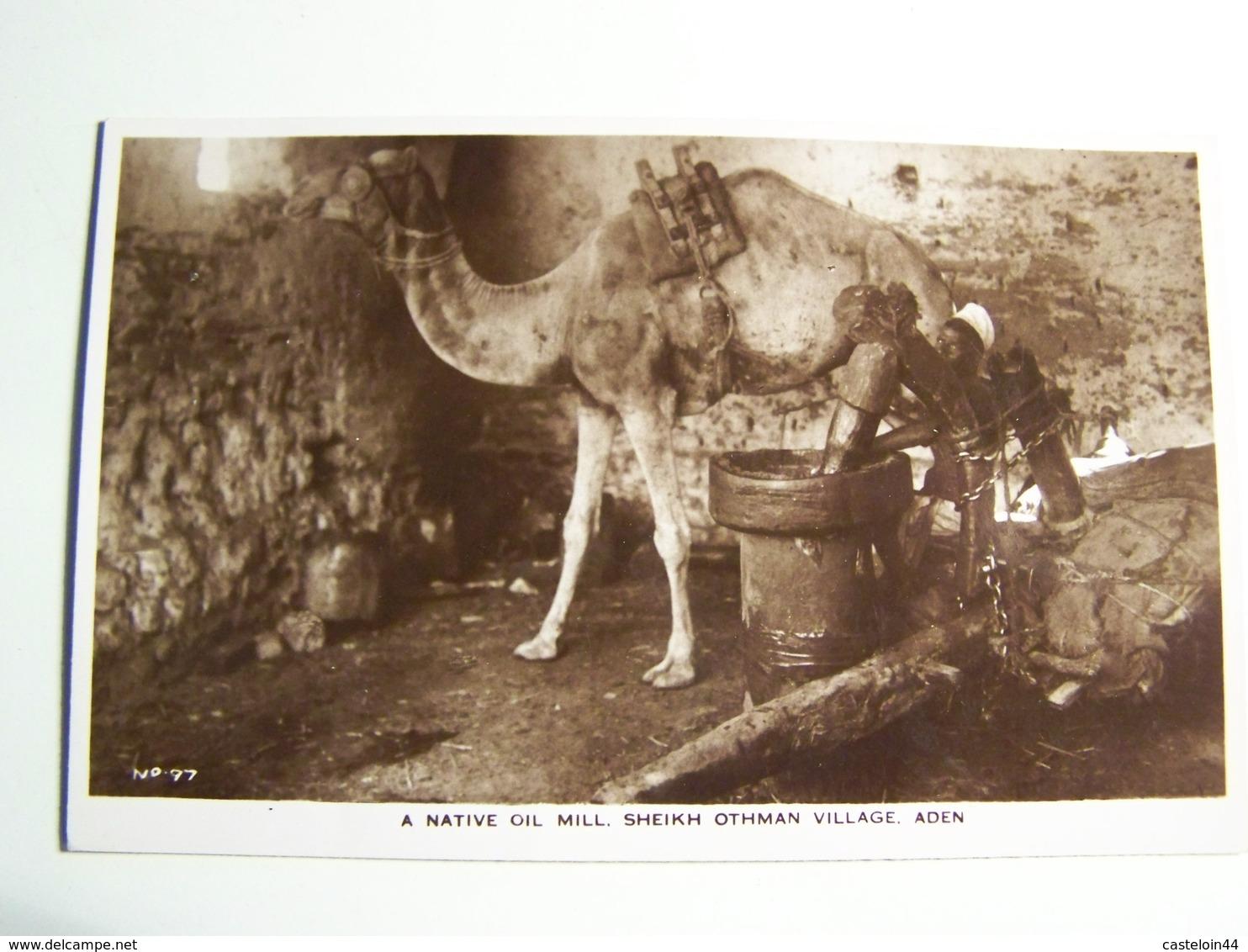 Aa005    ADEN  A Native Oil Mill Sheikh Othman Village - Yémen