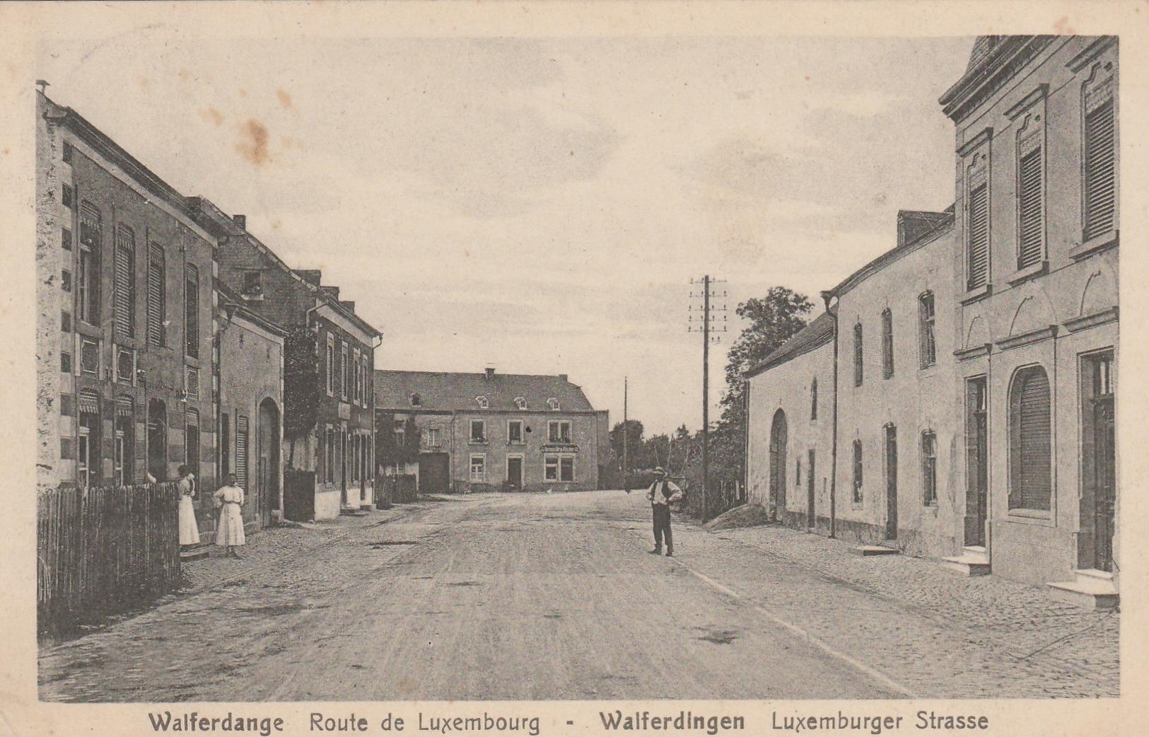 Walferdange , Route De Luxembourg , Walferdingen Luxemburger Strasse - Cartes Postales