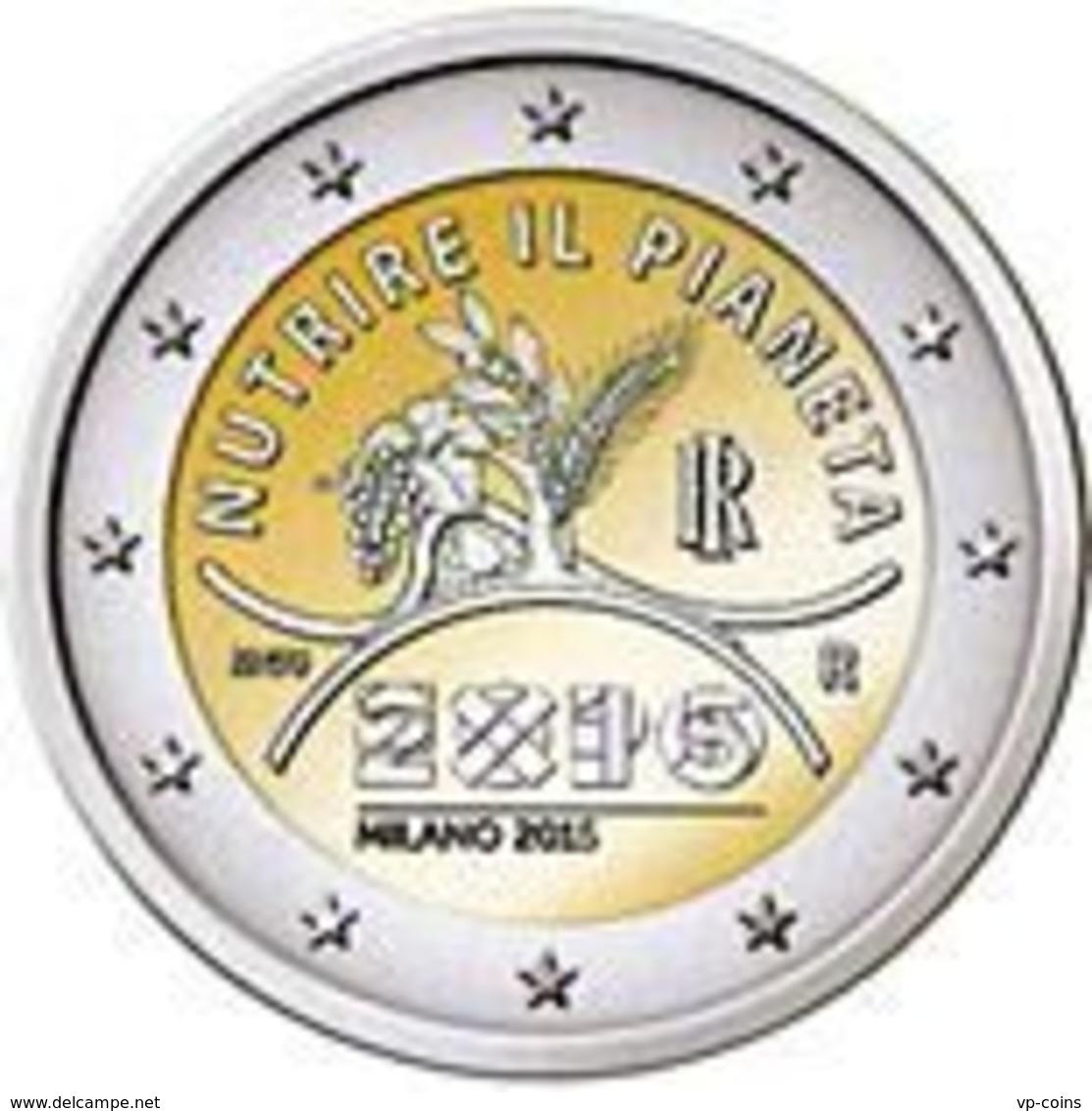 Italy. 2 Euro. The EXPO Exhibition In Milan. UNC. 2015 - Italia