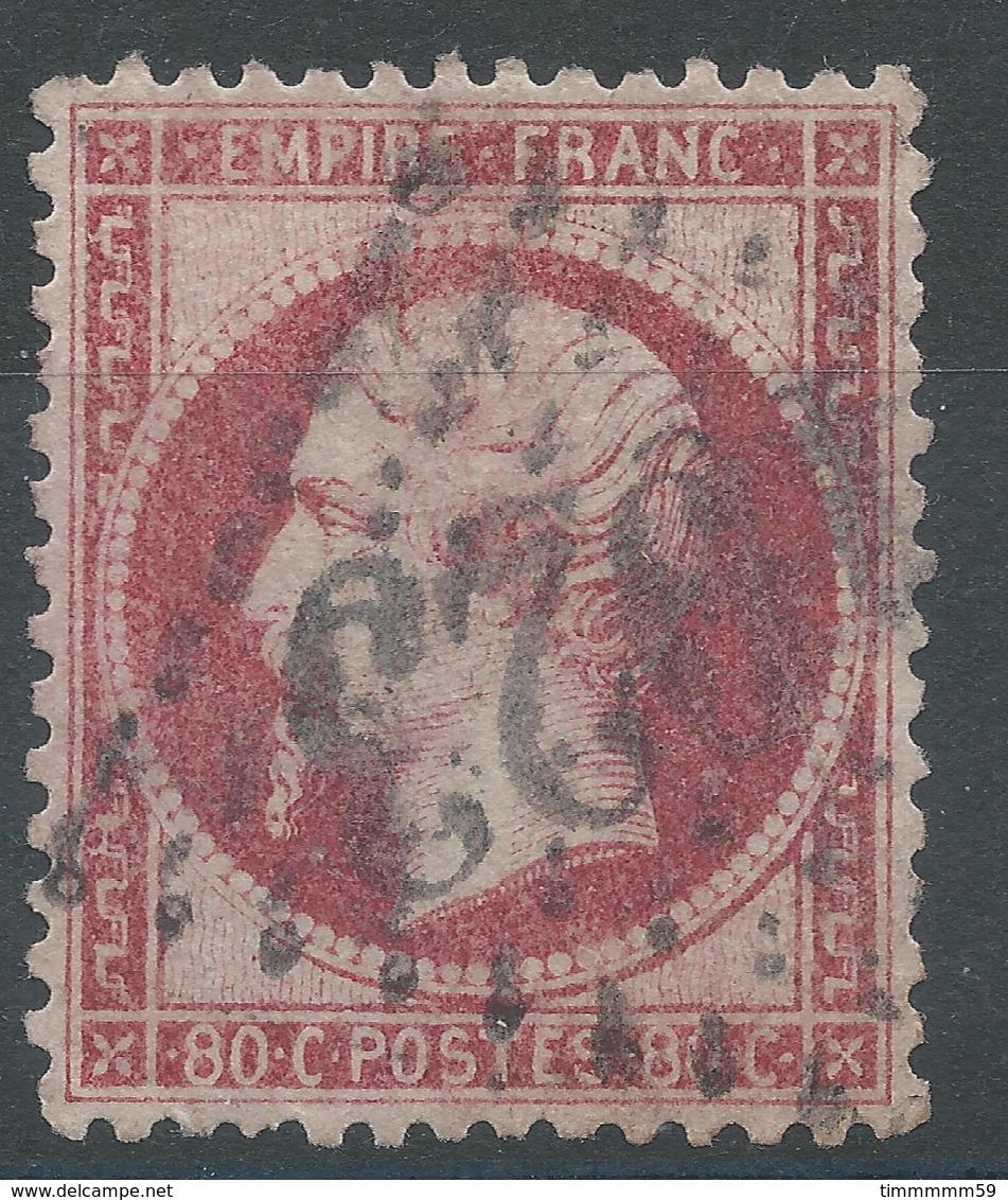 Lot N°49975  Variété/n°24a Rose Foncé, Oblit GC 1023 Chouzé, Indre-et-Loir (36), Ind 9, Impréssion Dépouillée - 1862 Napoléon III.