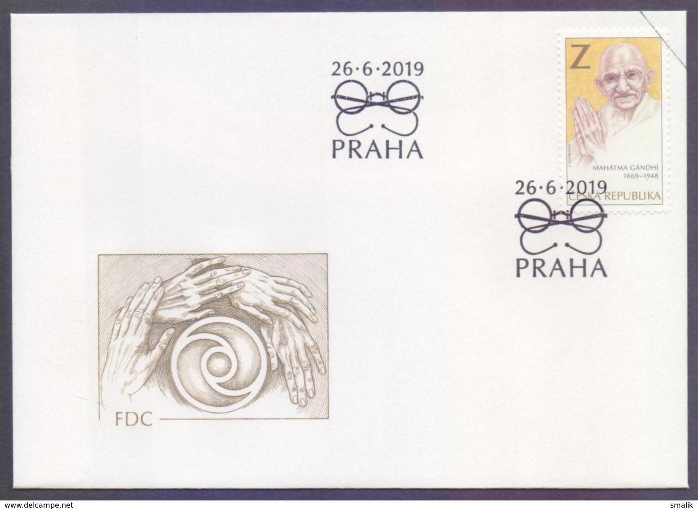 CZECH REPUBLIC 2019 FDC - Mahatma GANDHI, First Day Cover - Mahatma Gandhi