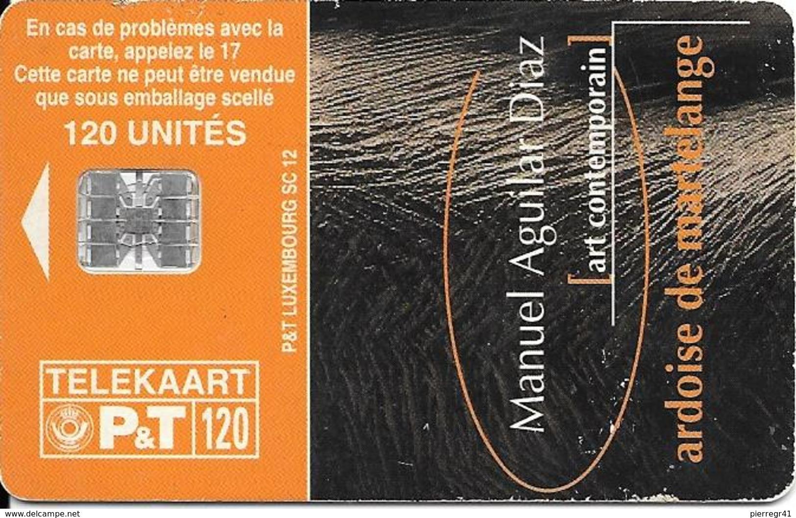 CARTE-PUCE-LUXEMBOURG-50U-SC12-SC7-1996-ART CONTEMPORAIN-9-Manuel Aguilar Diaz-V°Sans N° Série--BE - Luxembourg