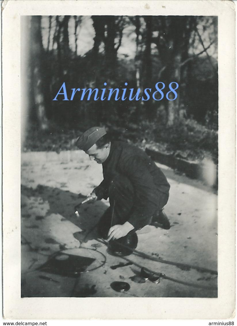 La France Occupée - Penfeld (Brest), November 1942 - La Soudure Au Chalumeau - Wehrmacht - Guerre, Militaire