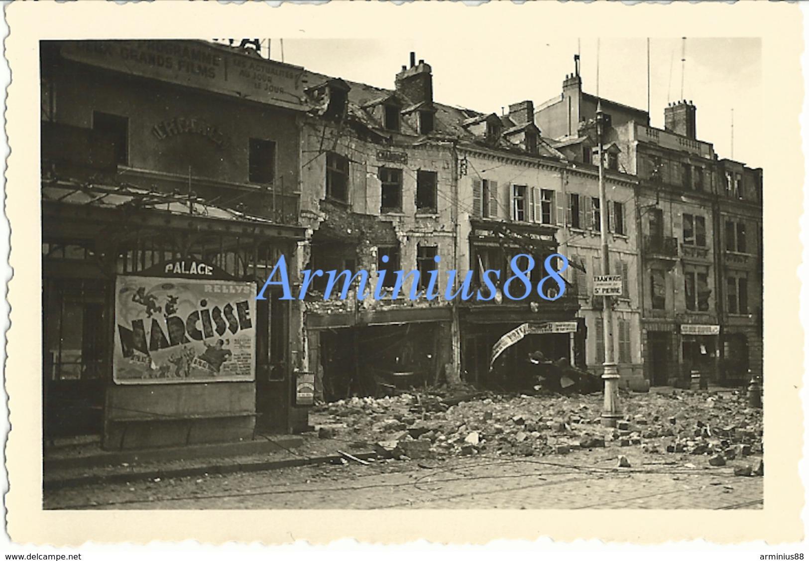 Campagne De France 1940 - Amiens - Cinéma Trianon Palace - Affiche Film Narcisse - Tramway St Pierre - Westfeldzug - Guerre, Militaire
