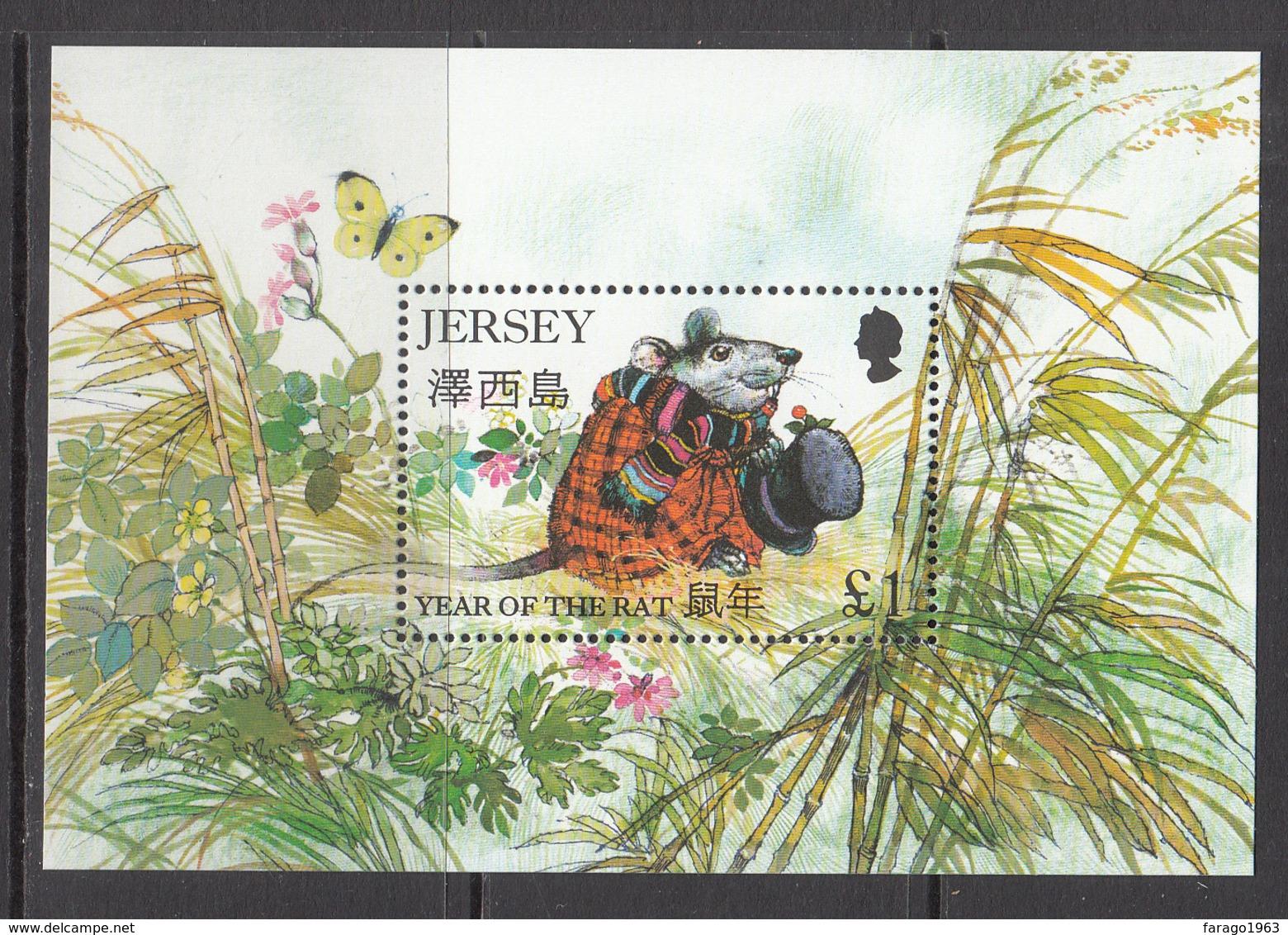 1996 Jersey Year Of The Rat China Souvenir Sheet MNH @ BELOW FACE VALUE - Jersey