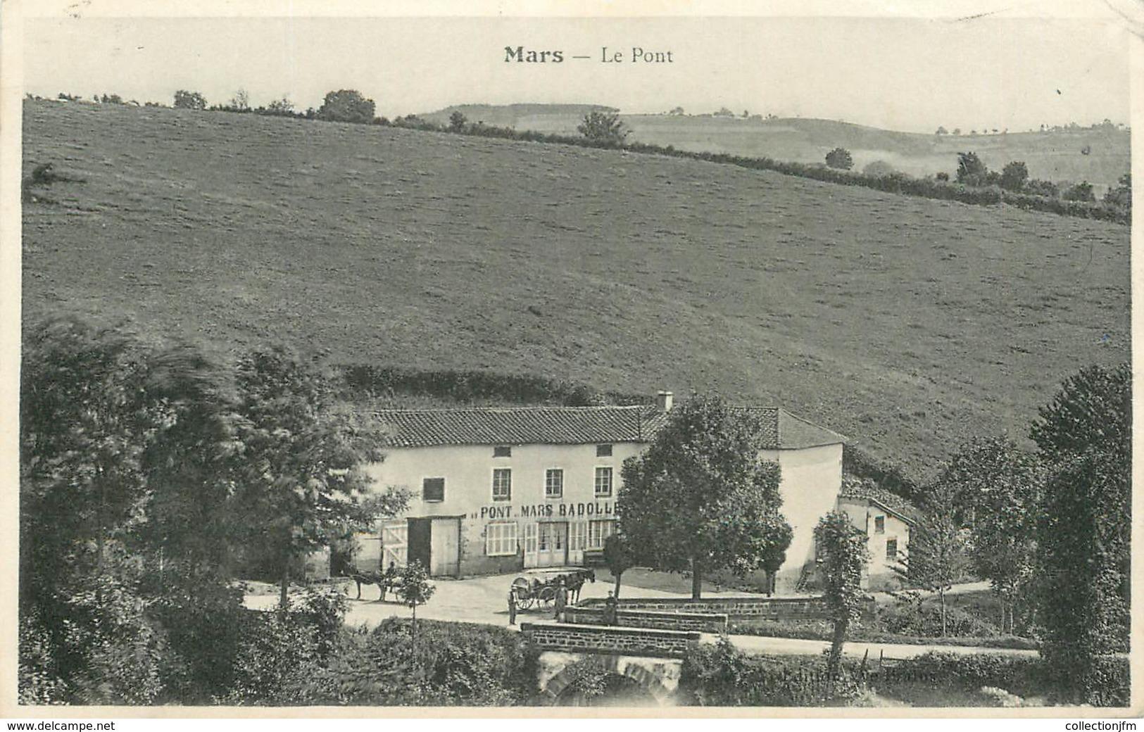 ".CPA FRANCE 42 ""Mars, Le Pont"" - Otros Municipios"