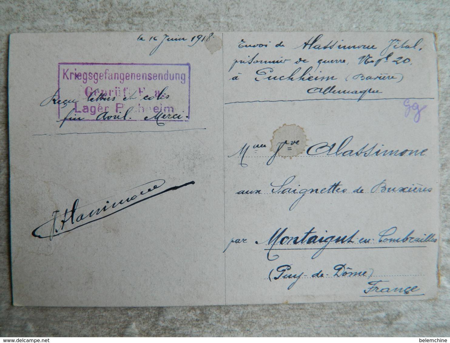 CAMP DE PRISONNIERS EN ALLEMAGNE  (PUSCHHEIM BAVIERE)   AU JEU DE BOULES - Guerre 1914-18