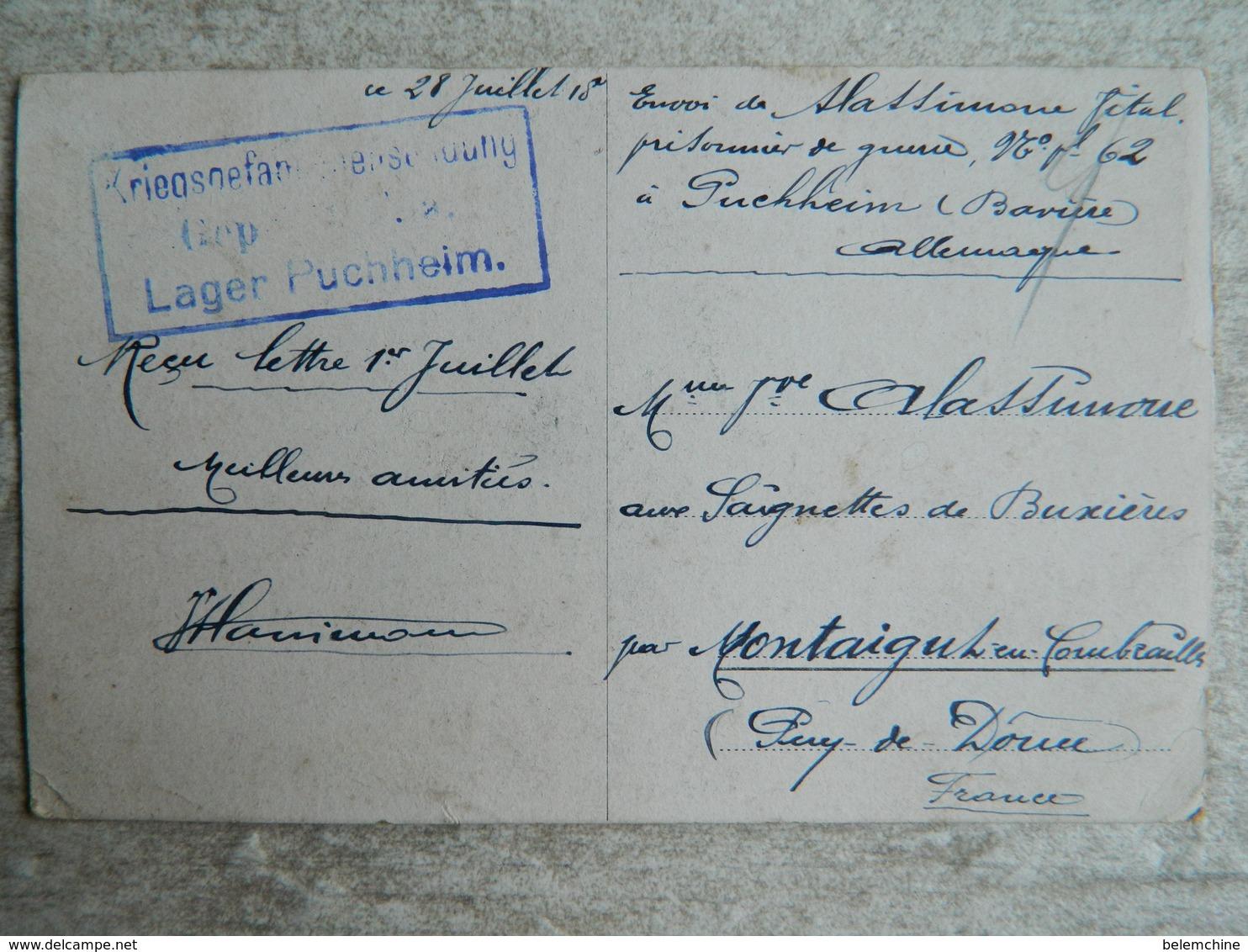 CAMP DE PRISONNIERS EN ALLEMAGNE  (PUSCHHEIM BAVIERE)   LE CAMP EN HIVER - Guerre 1914-18