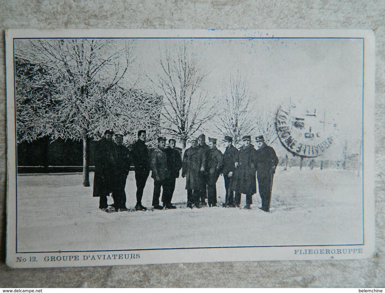 CAMP DE PRISONNIERS EN ALLEMAGNE  (PUSCHHEIM BAVIERE)   GROUPE D'AVIATEURS - Guerre 1914-18