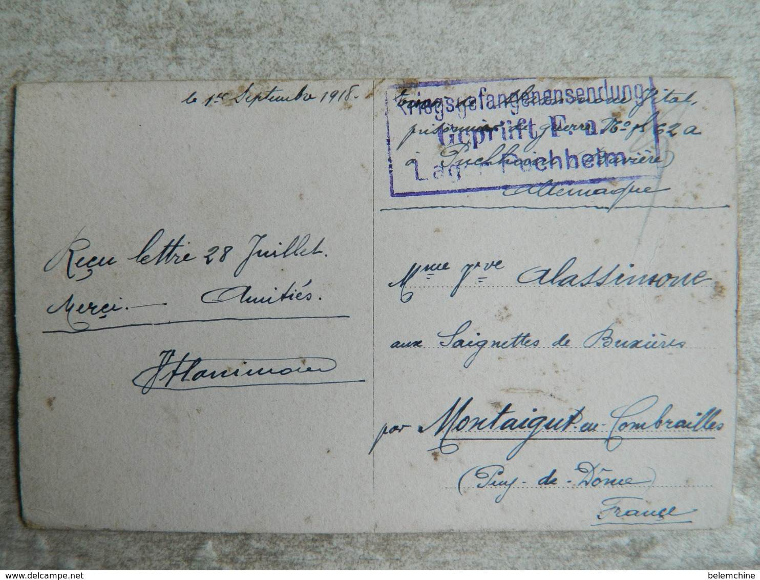 CAMP DE PRISONNIERS EN ALLEMAGNE  (PUSCHHEIM BAVIERE)   DEPART EN DETACHEMENT - Guerre 1914-18