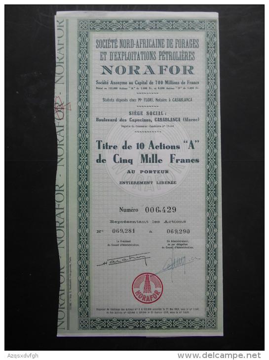 NORAFOR Nord Africaine De Forages Et D'Exploitations Petrolieres CASABLANCA MAROC - Aardolie