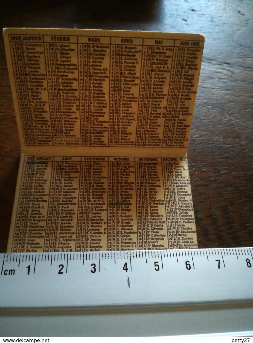 Mini Calendrier GRAND BAZAR DE L HÔTEL DE VILLE DE PARIS 1922 - Kalenders
