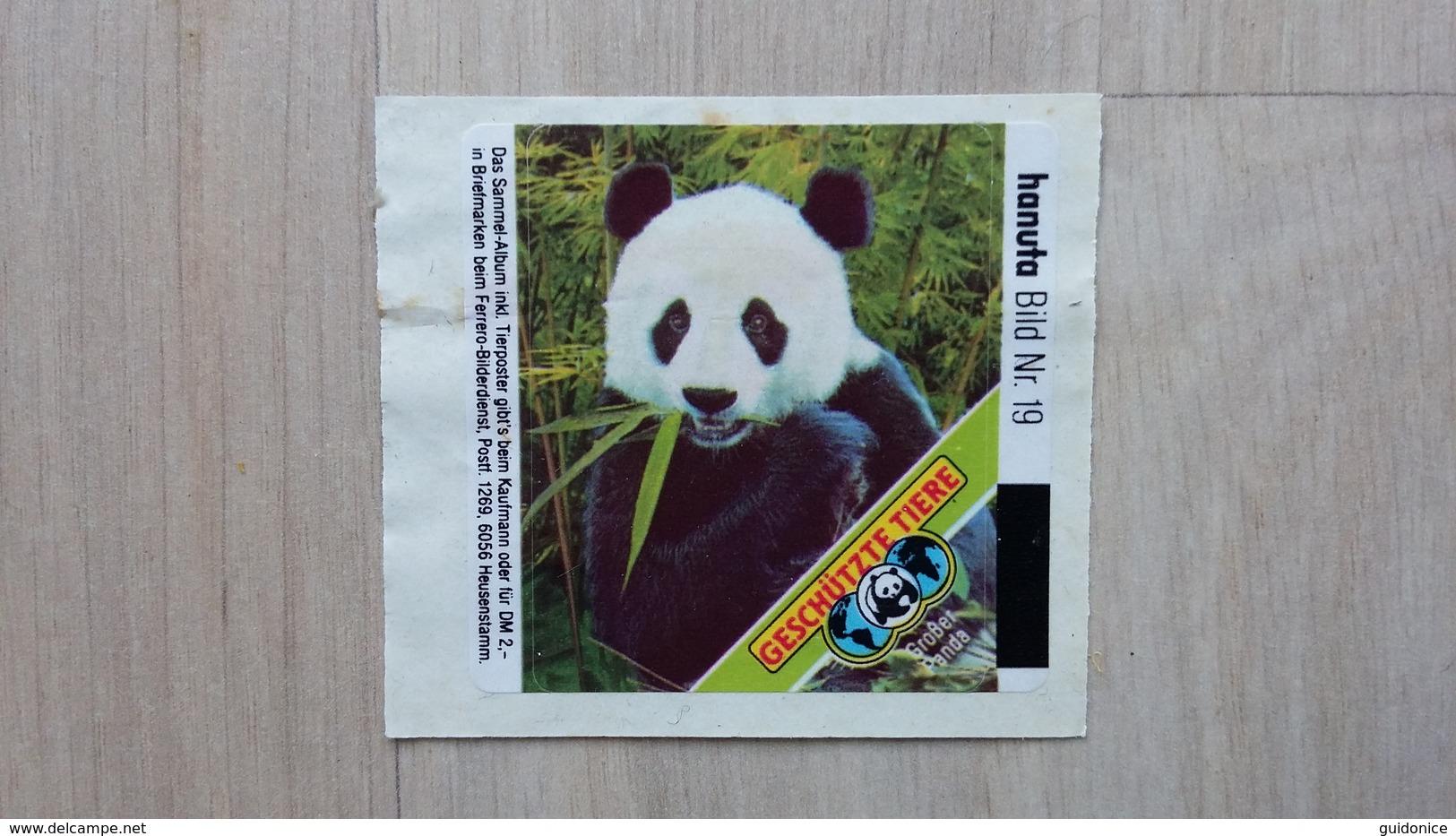 """HANUTA - Sammelbild Nr. 19 (Pandabär)  Für Das Album """"Geschützte Tiere"""" Von 1985 - Süsswaren"""