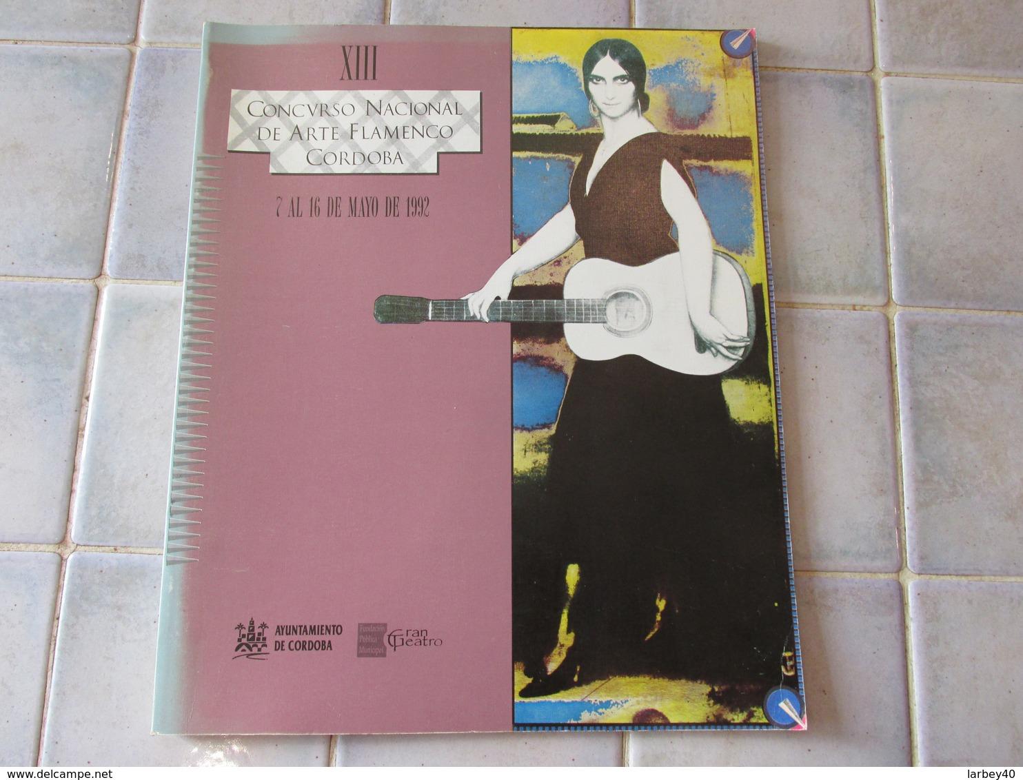 Concvrso Nacional De Arte Flamenco Cordoba 1992 - Kultur