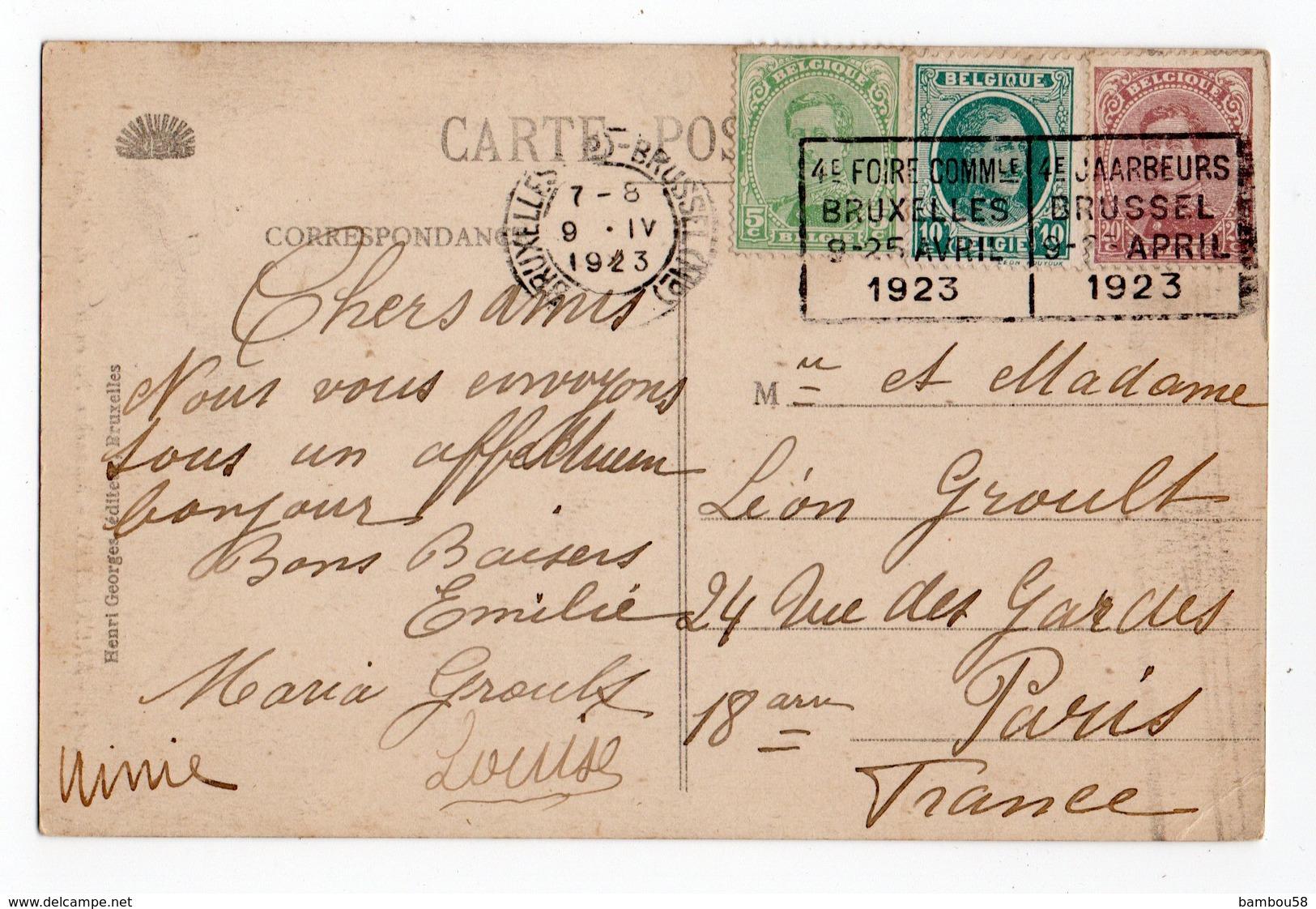 BELGIQUE * BRUXELLES * FOIRE COMMUNALE * AVRIL 1923 * JAARBEURS * MANNEKEN-PIS * En Jass - Feesten En Evenementen