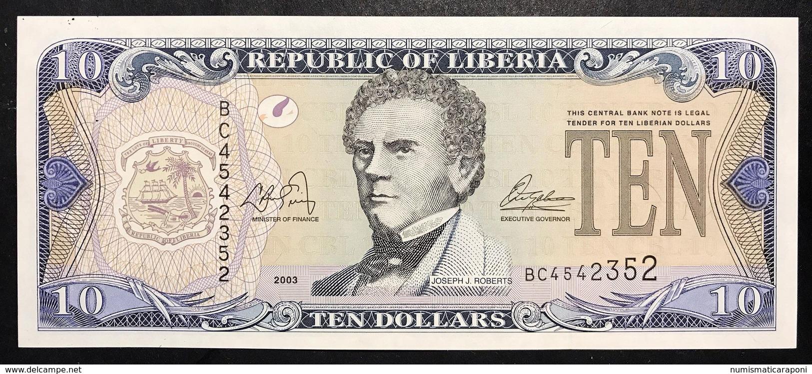 Liberia 10 $ 2003 Fds  LOTTO 2611 - Liberia