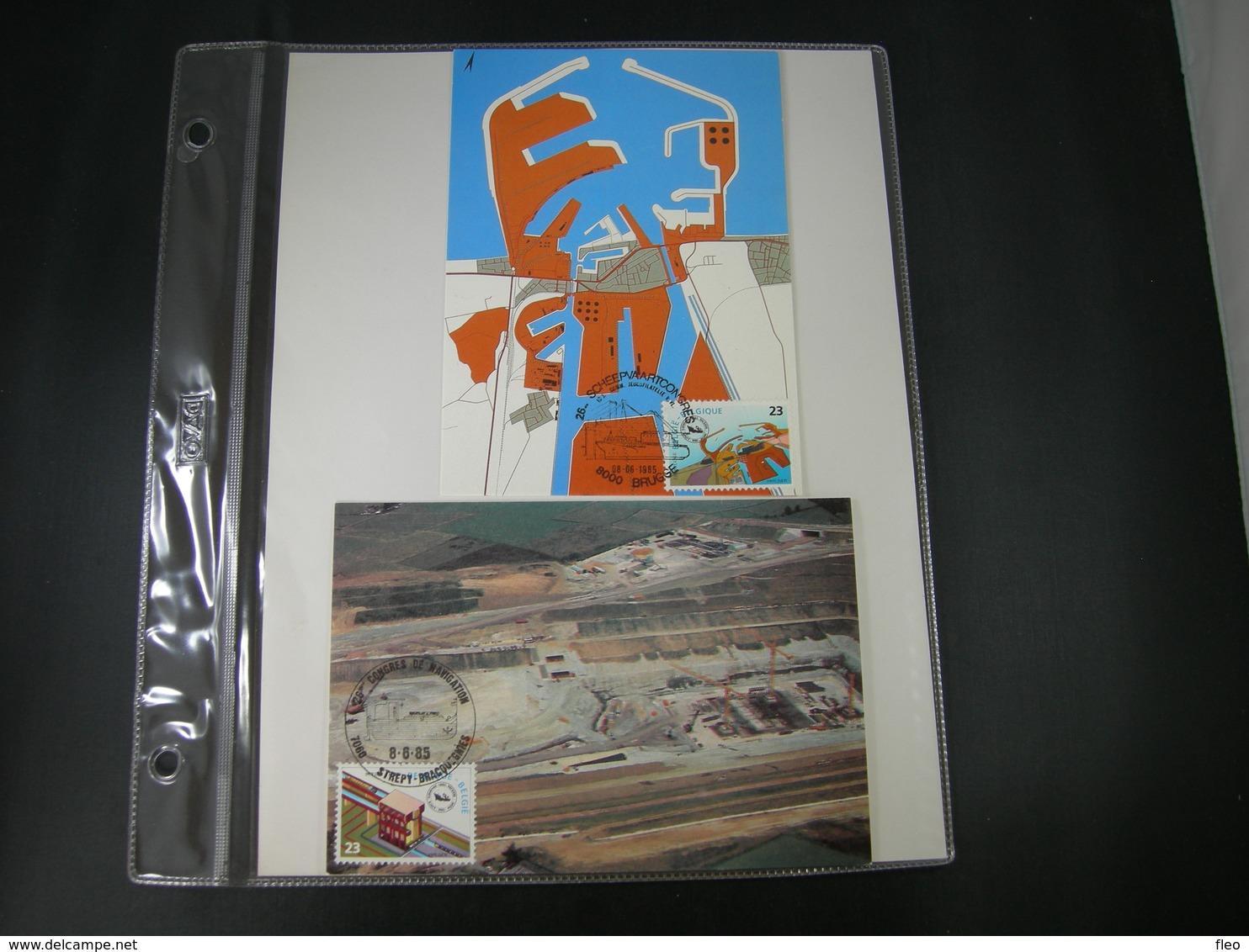 """BELG.1985  2177 & 2178  FDC Maxicards : """" 26é Scheepsvaartscongres / 26é Congrés De Navigation """" - FDC"""