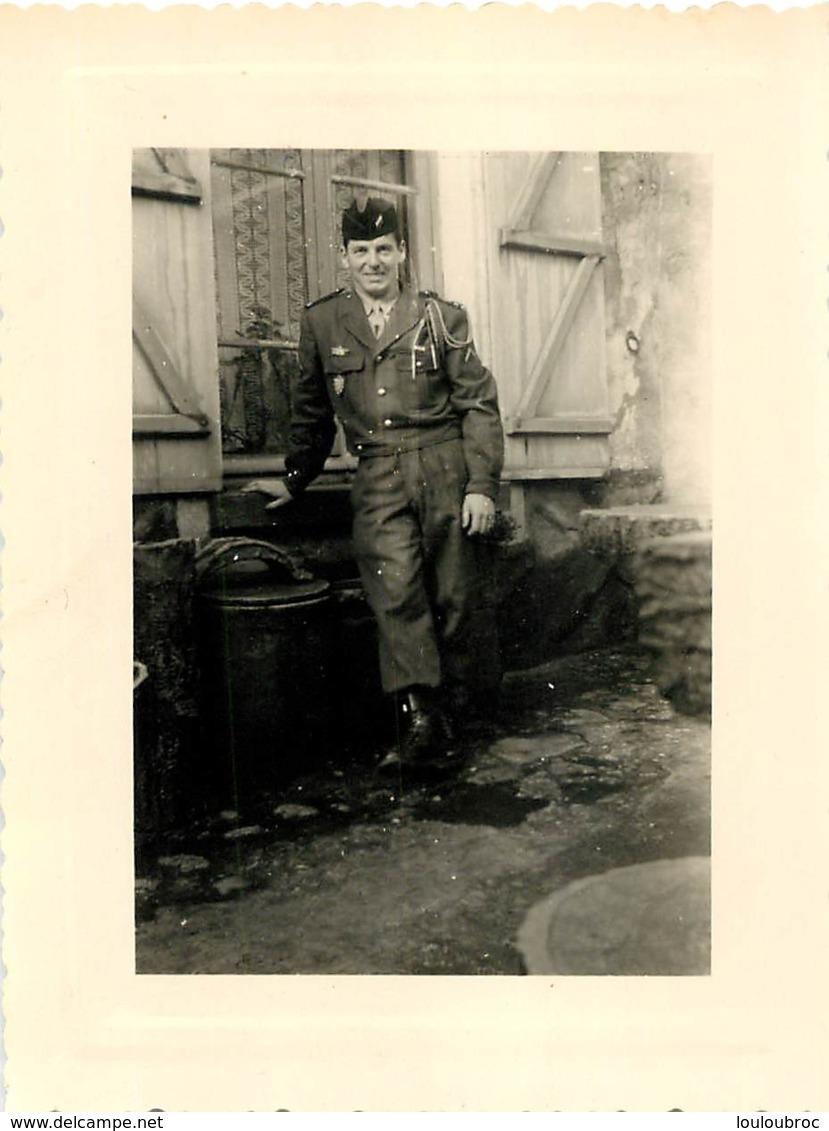 PHOTO  MILITAIRE SOLDAT  10.50 X 8 CM - Guerre, Militaire