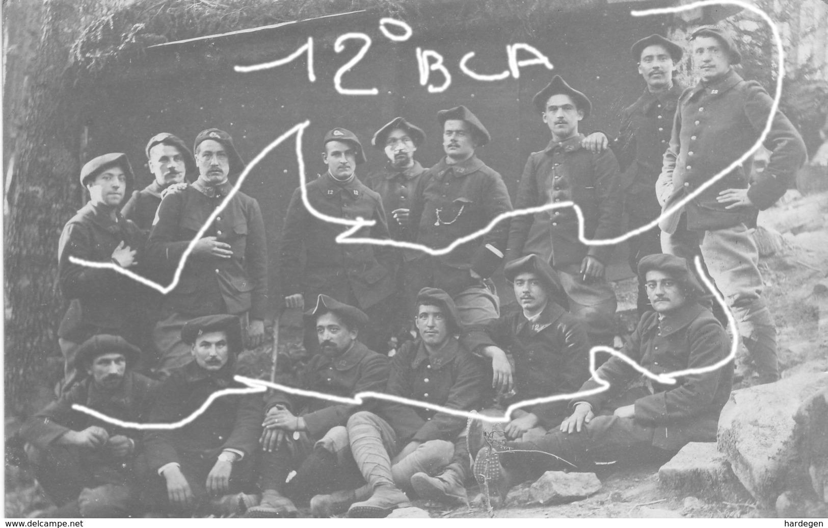 Armée Française 12 ° BCA Chasseurs Alpins - Guerre, Militaire