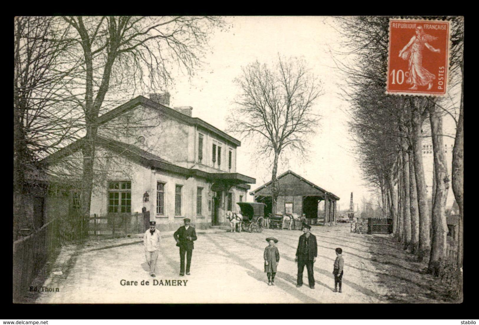 51 - DAMERY - LA GARE DE CHEMIN DE FER - France