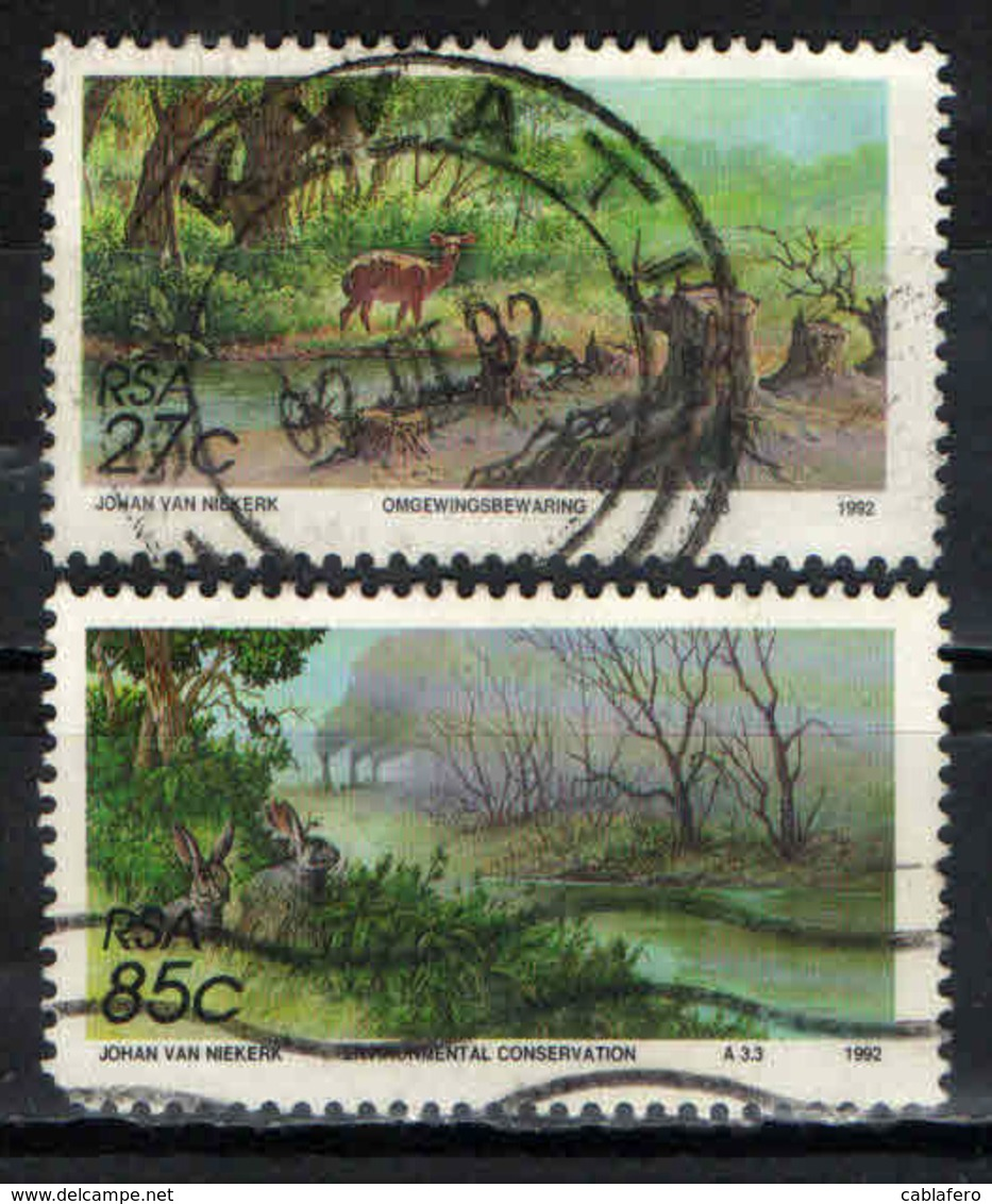 SUD AFRICA - 1992 - SALVAGUARDIA DELLA NATURA - USATI - Sud Africa (1961-...)