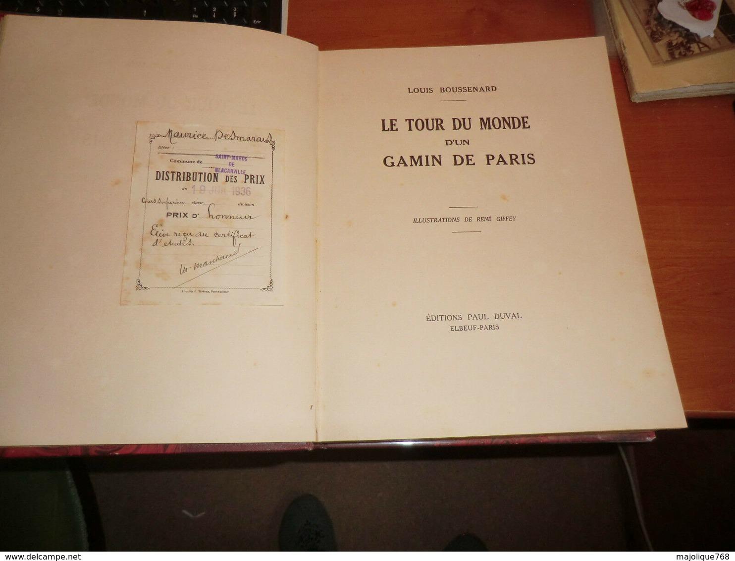 Le Tour Du Monde D'un Gamin De Paris Par Louis Boussenard - N D (1936) - Livres, BD, Revues