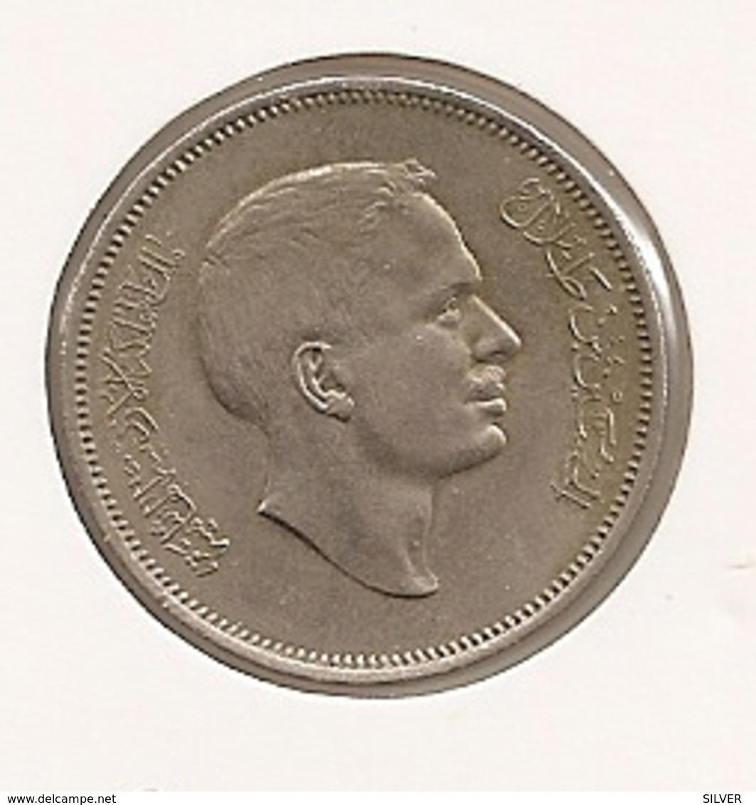 JORDANIE JORDAN JORDANIA 50 Fils Hussein AH 1387 1968 RARE 109 - Jordanie