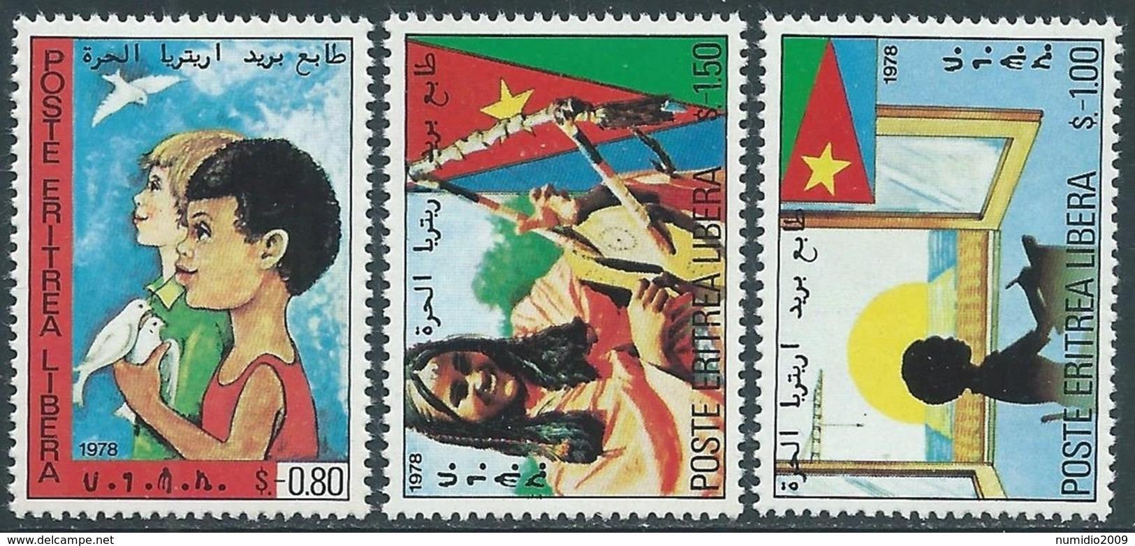 1978 ERITREA 3 VALORI MNH ** - RA2-2 - Eritrea