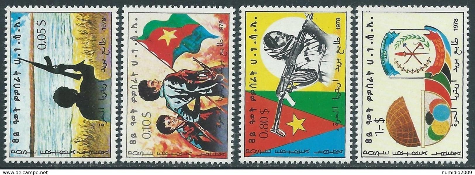 1978 ERITREA 4 VALORI MNH ** - RA2-4 - Eritrea