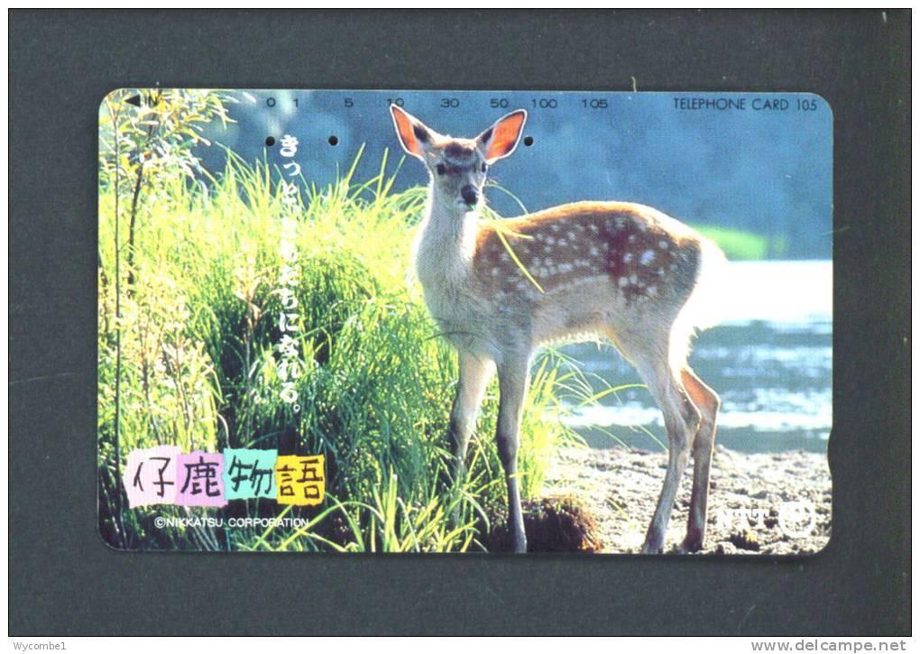 JAPAN  -  Magnetic Phonecard/Animal/Deer As Scan - Japan
