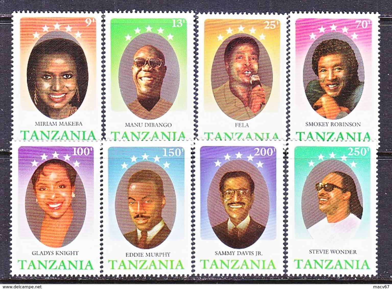 TANZANIA  580-87    **    MUSIC   BLACK  ENTERTAINERS - Music