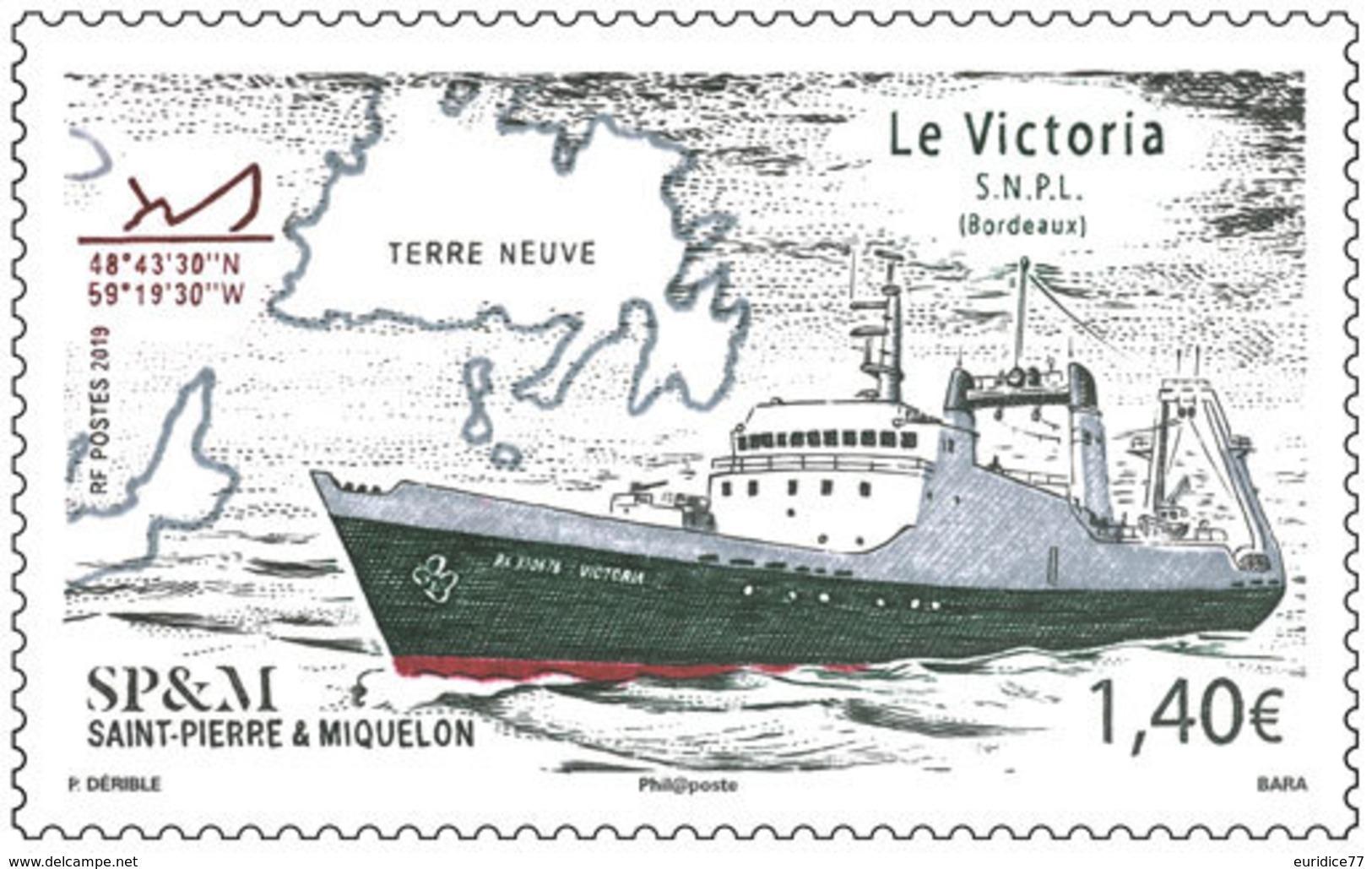 Saint Pierre & Miquelon 2019 - Le Victoria Mnh - Nuevos
