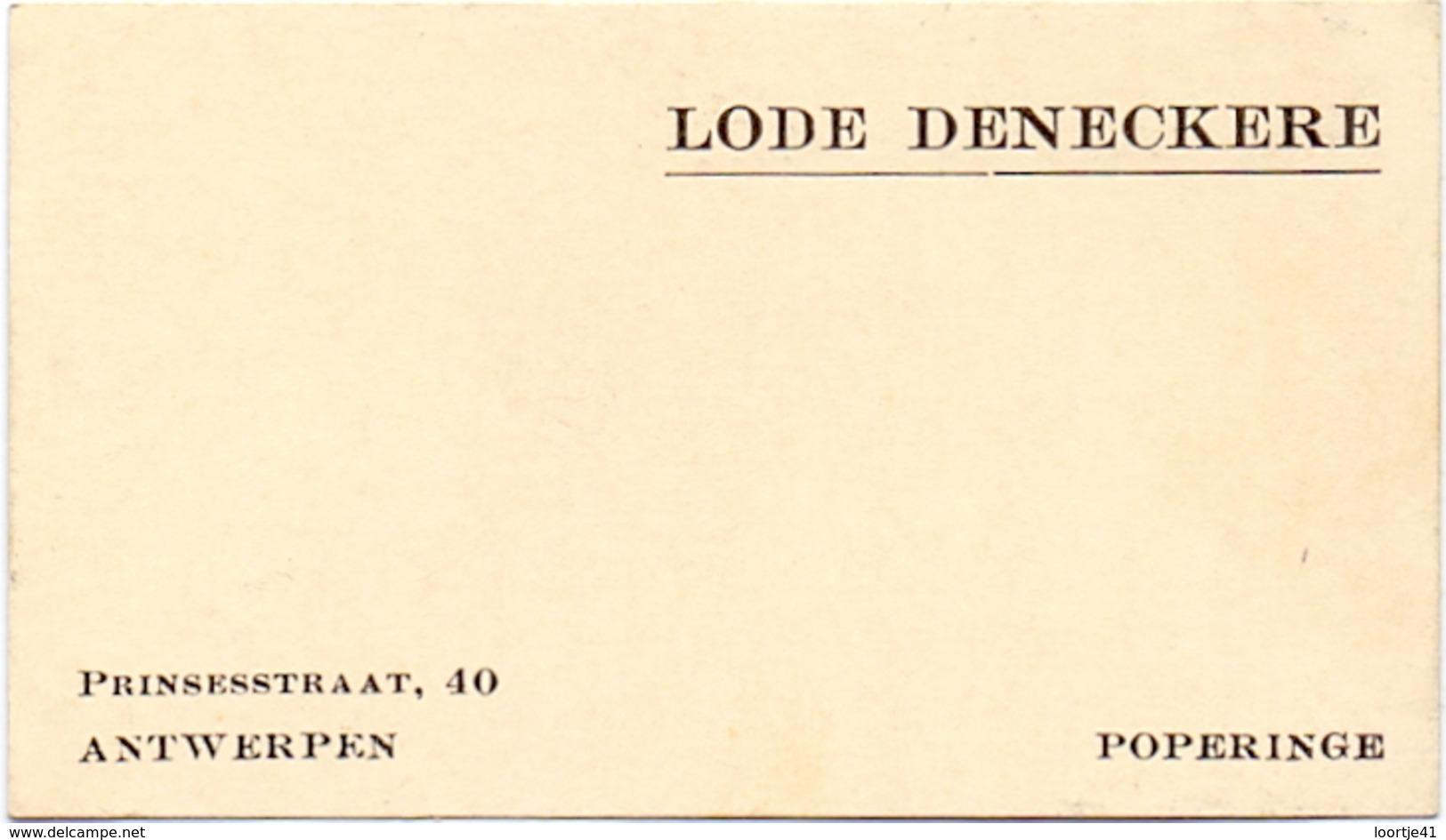 Visitekaartje - Carte Visite - Lode Deneckere - Poperinge - Cartes De Visite