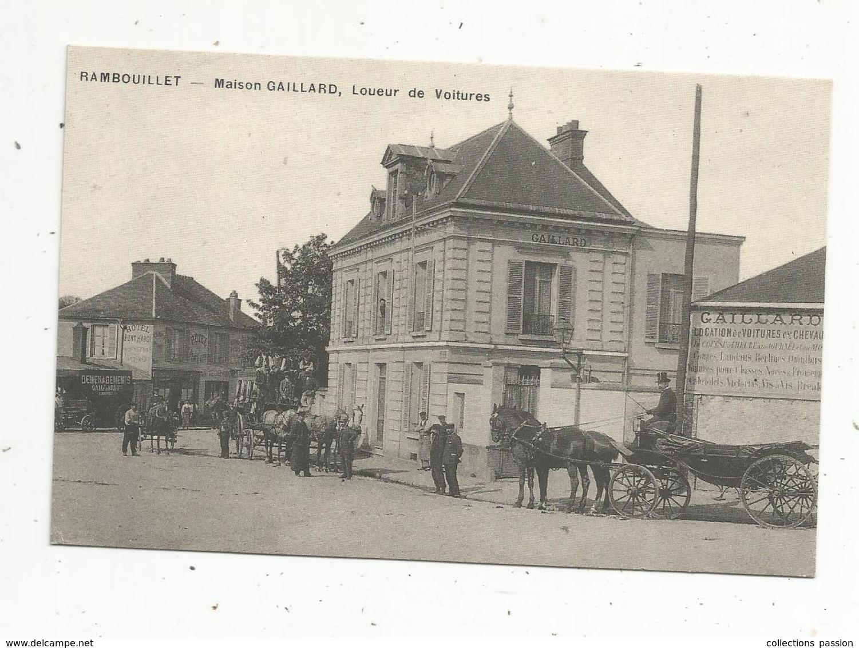 Reproduction De Cp , Attelages ,  Chevaux, Commerce,  MAISON GAILLARD , Loueur De Voitures,  78 ,  RAMBOUILLET - Vari
