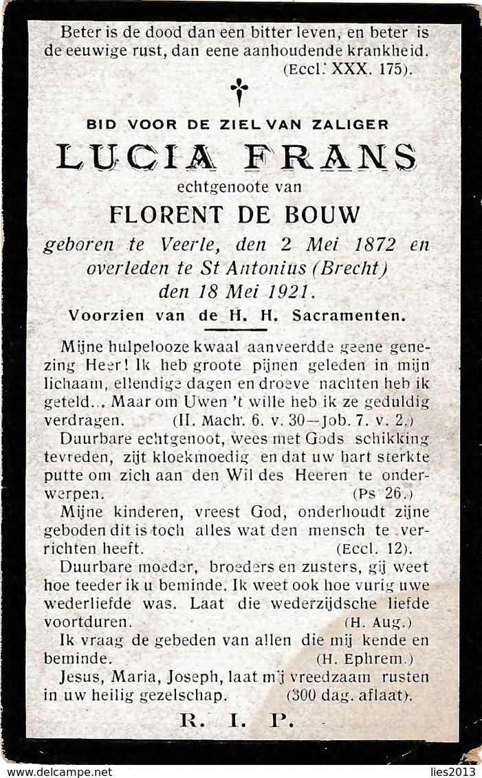 Veerle, Sint-Antonius-Brecht, Lucia Frans, De Bouw - Images Religieuses