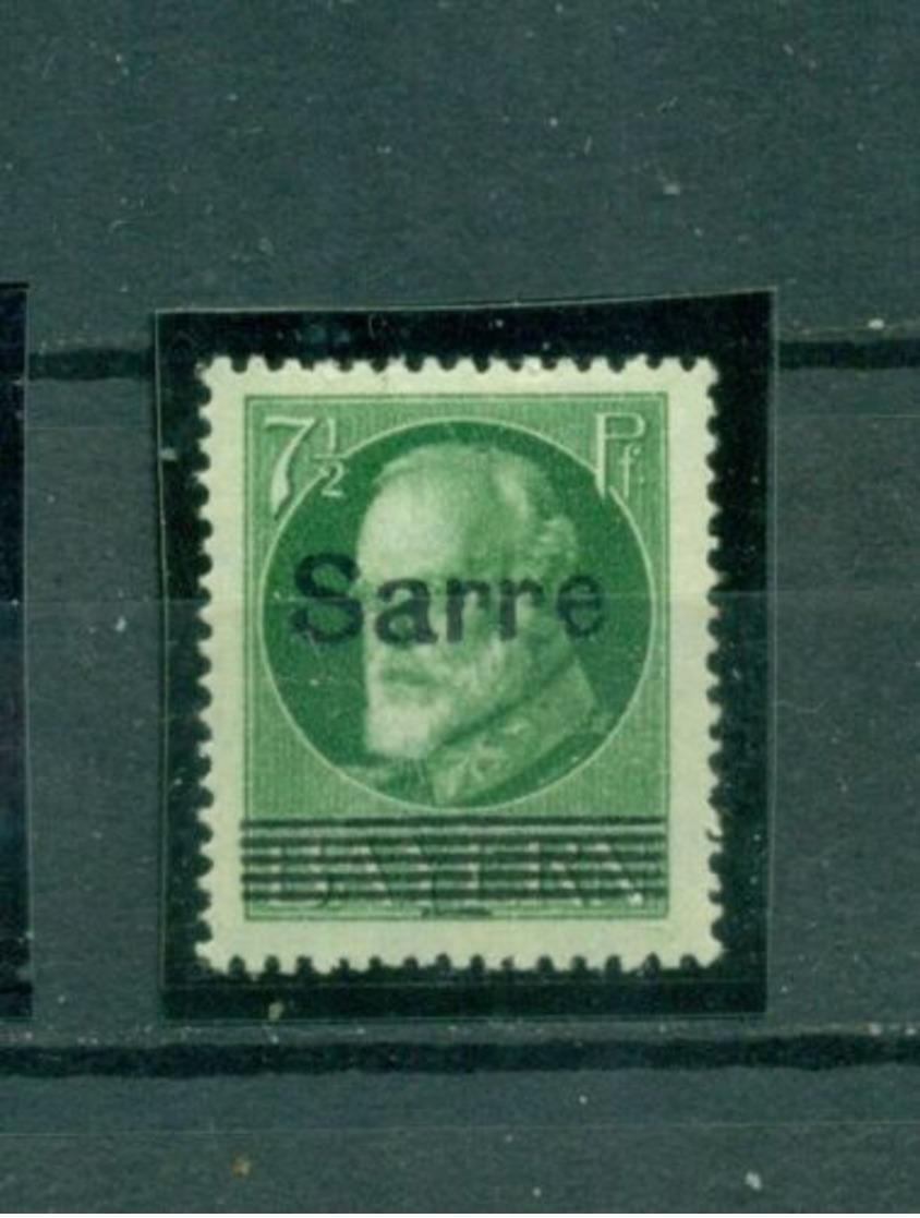 Saargebiet, Sarre Auf Bayern, Nr. C 31 Falz *, Altsignatur - 1920-35 Saargebiet – Abstimmungsgebiet