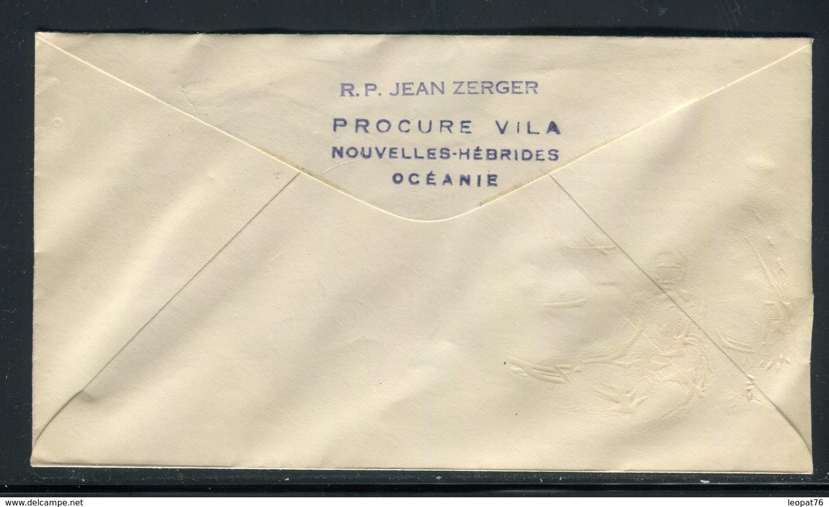 Nouvelles Hébrides - Enveloppe FDC 1957 Pour Paris -  Réf J117 - FDC