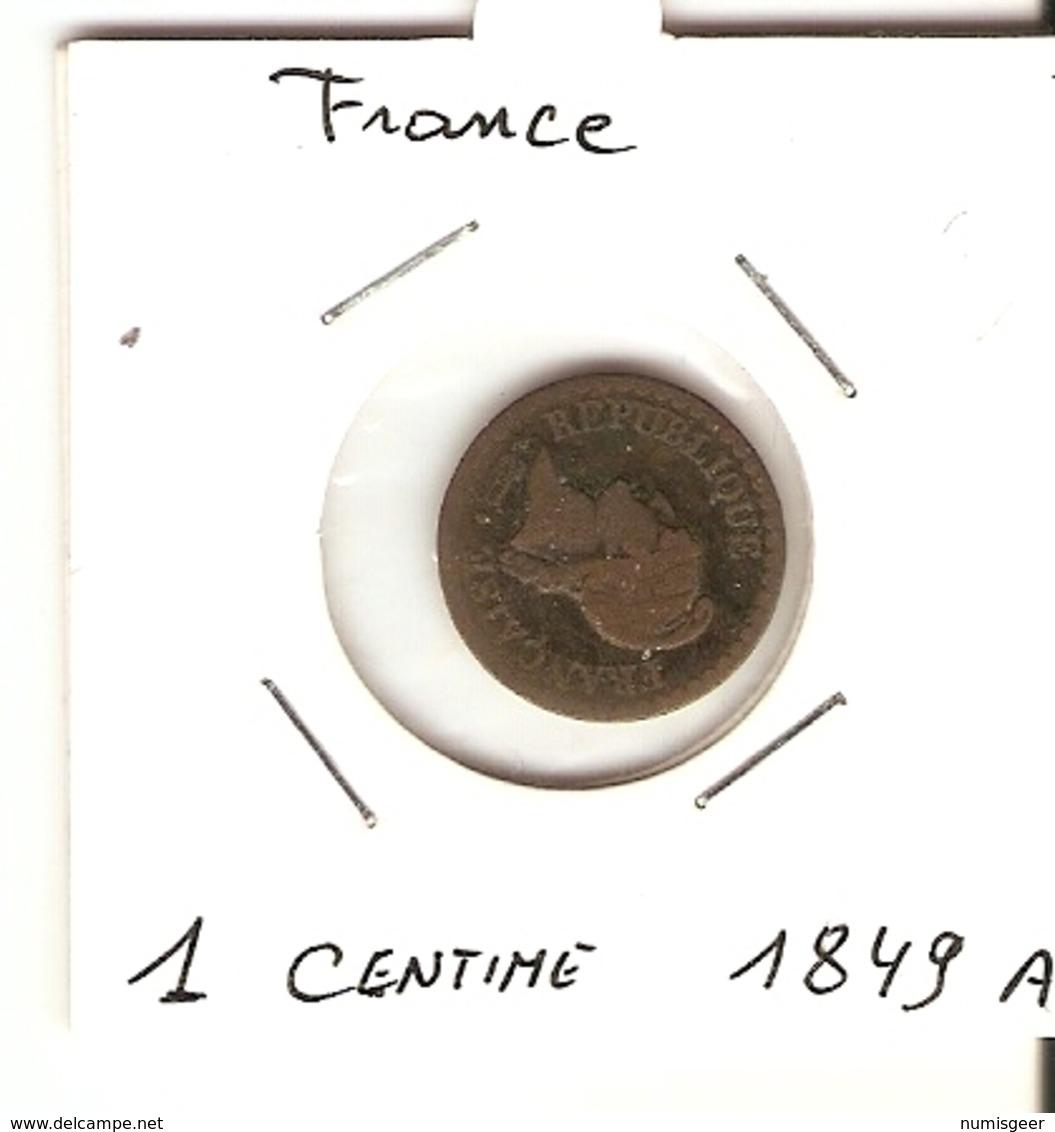 Directoire/Consulat/ 2° République  --  1 Ct. 1849 A - France