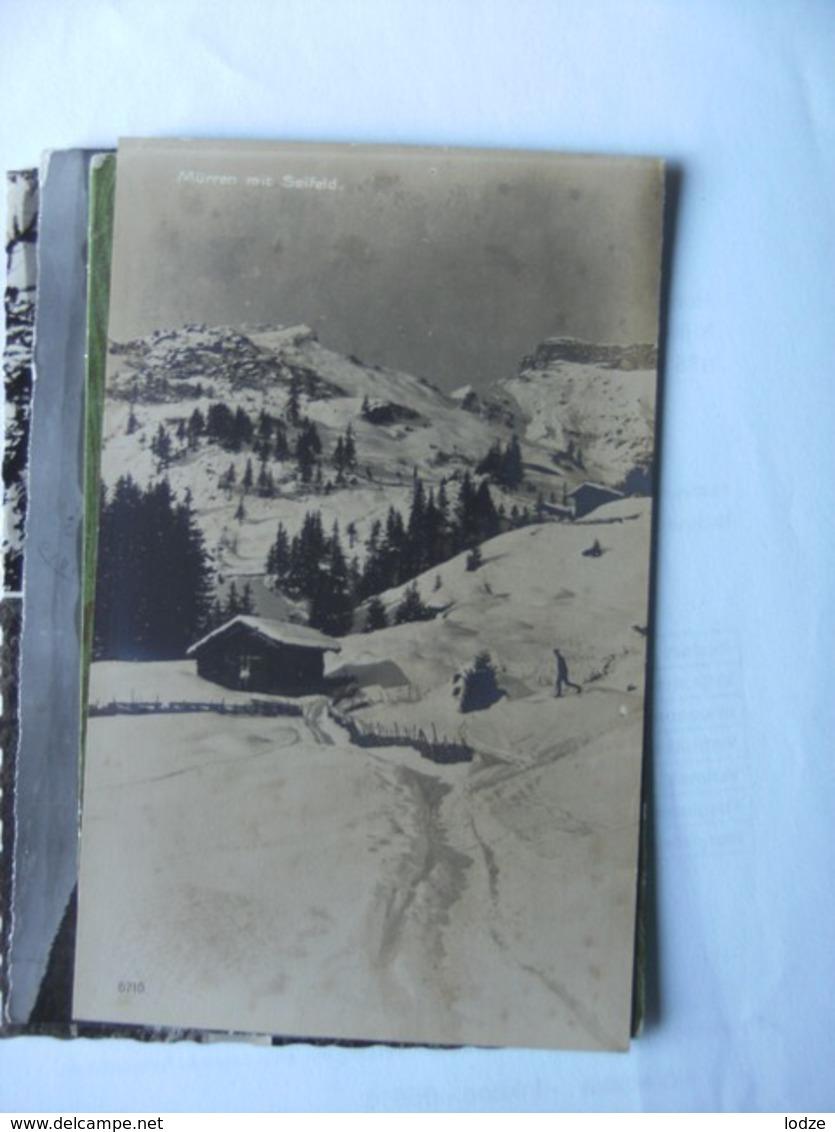 Zwitserland Schweiz Suisse BE Mürren Mit Seifeld Im Schnee Photo Karte - BE Berne