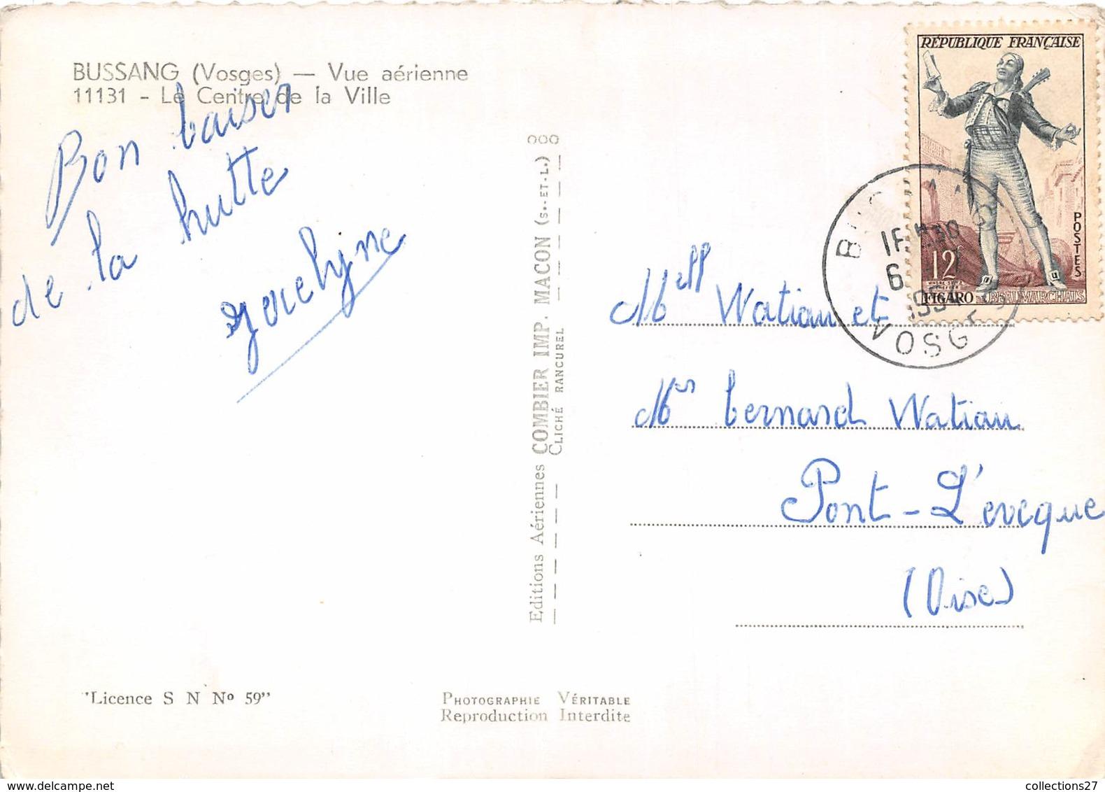 88-BUSSANG- VUE AERIENNE LE CENTRE DE LA VILLE - Bussang