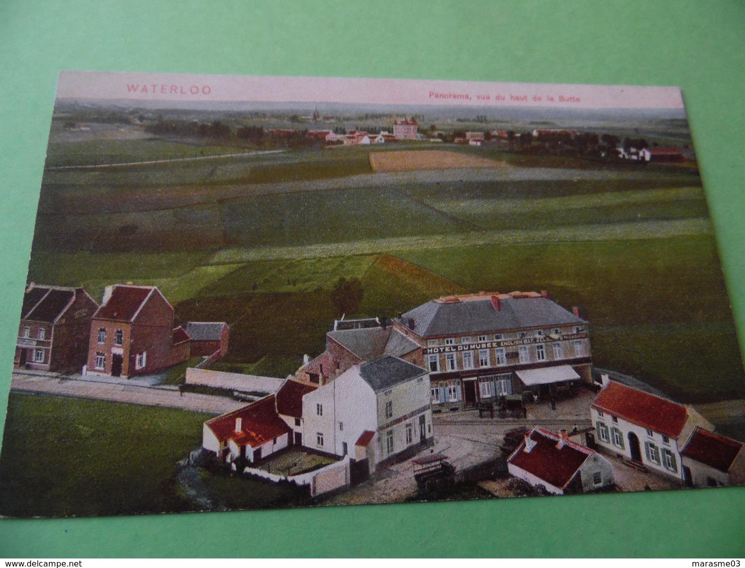 CPA  - WATERLOO  -  Panorama Vue Du Haut De La Butte - Waterloo